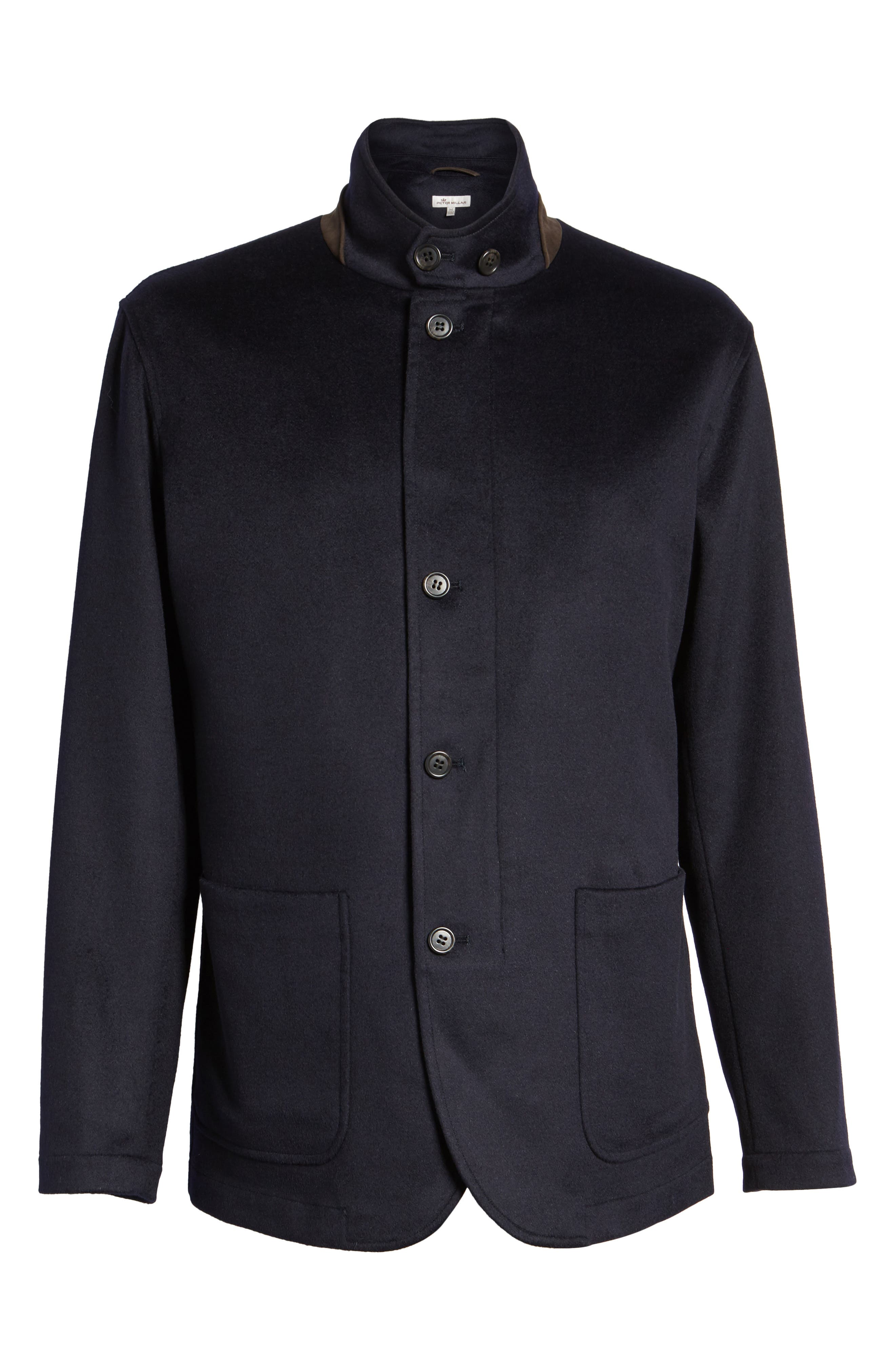 Crown Wool & Cashmere Jacket,                             Alternate thumbnail 6, color,                             Navy