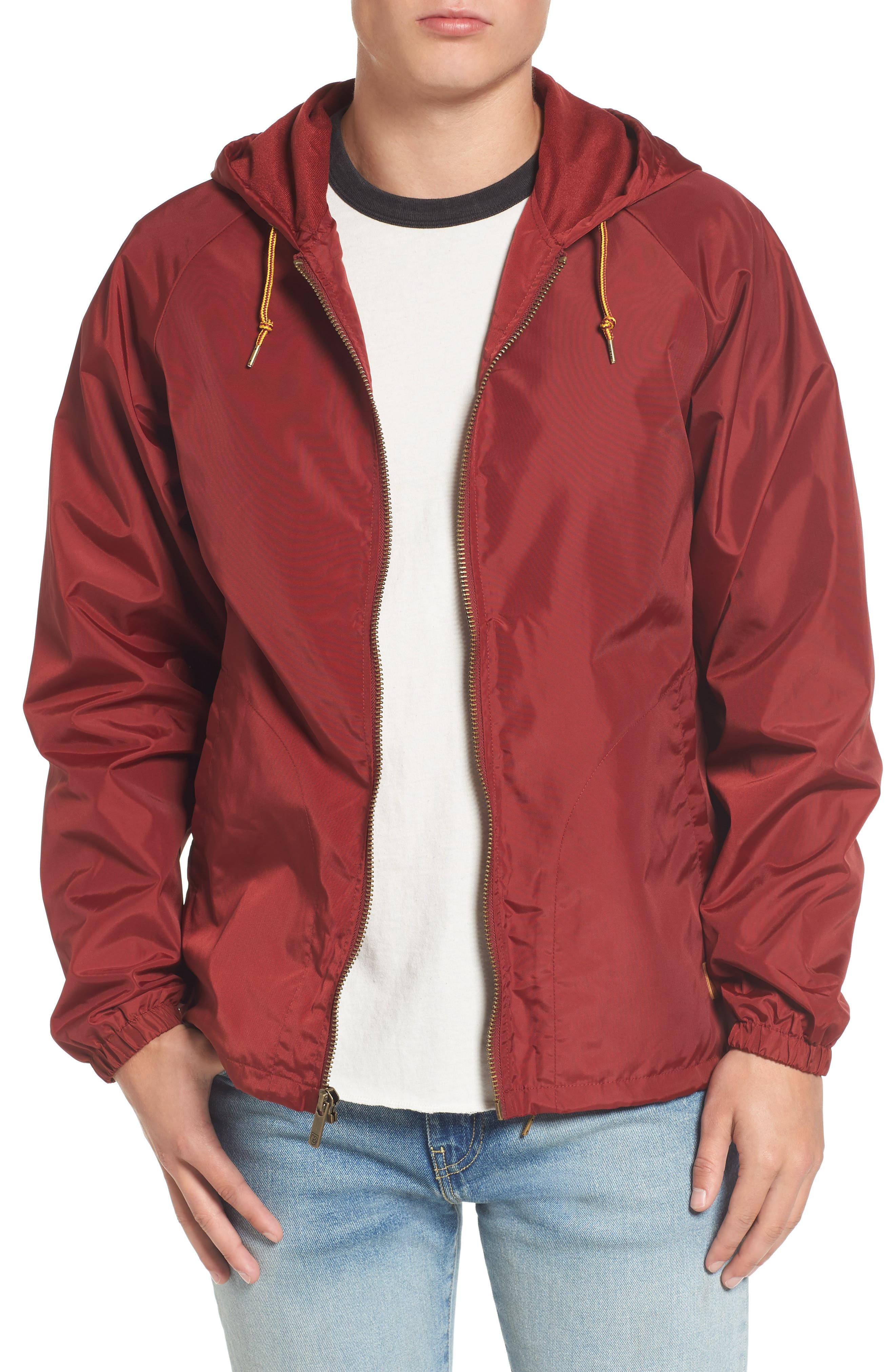 Main Image - Brixton Claxton Water Repellent Hooded Windbreaker