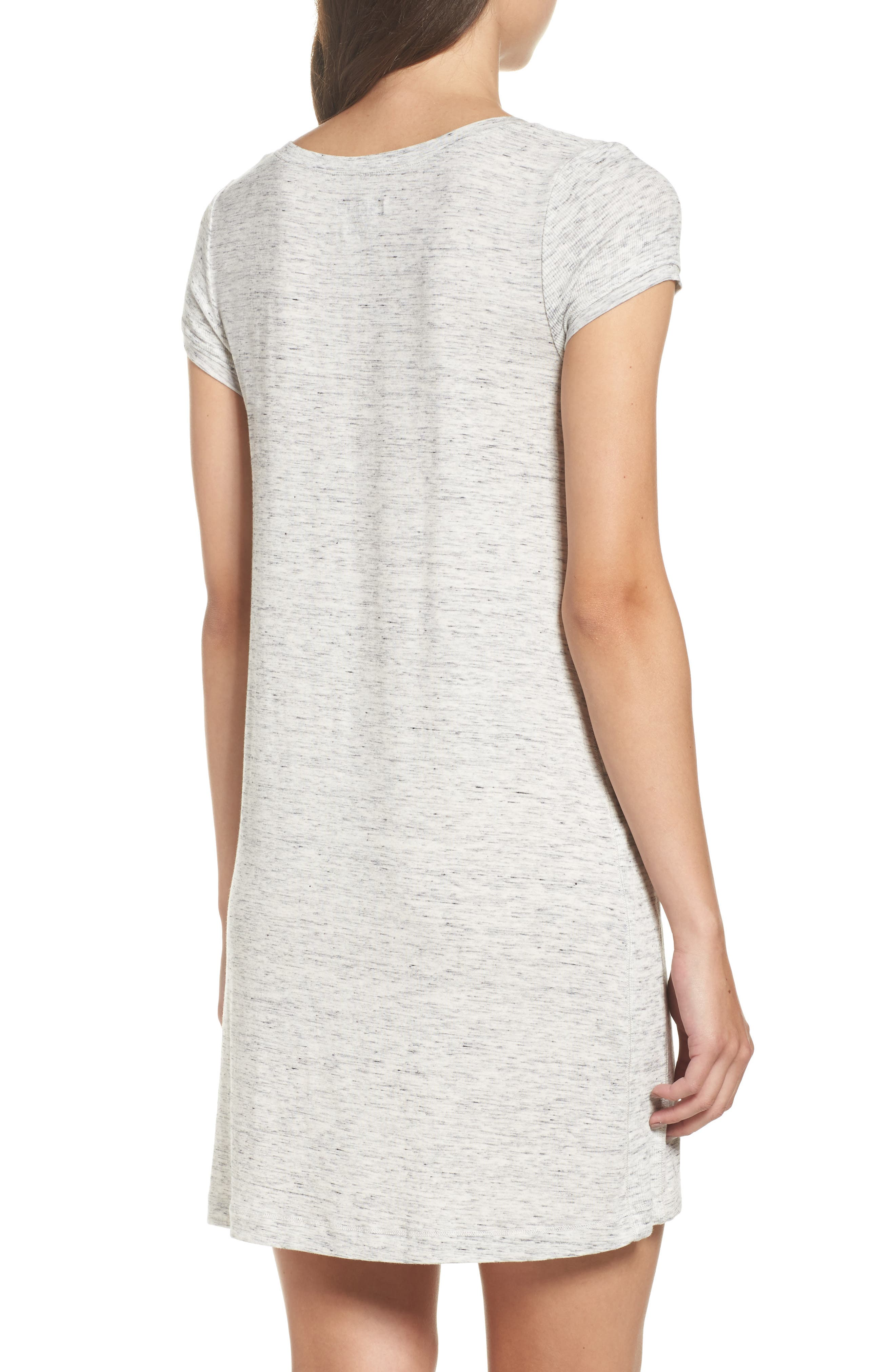 'City Essentials' V-Neck Sleep Shirt,                             Alternate thumbnail 2, color,                             Light Gray Heather