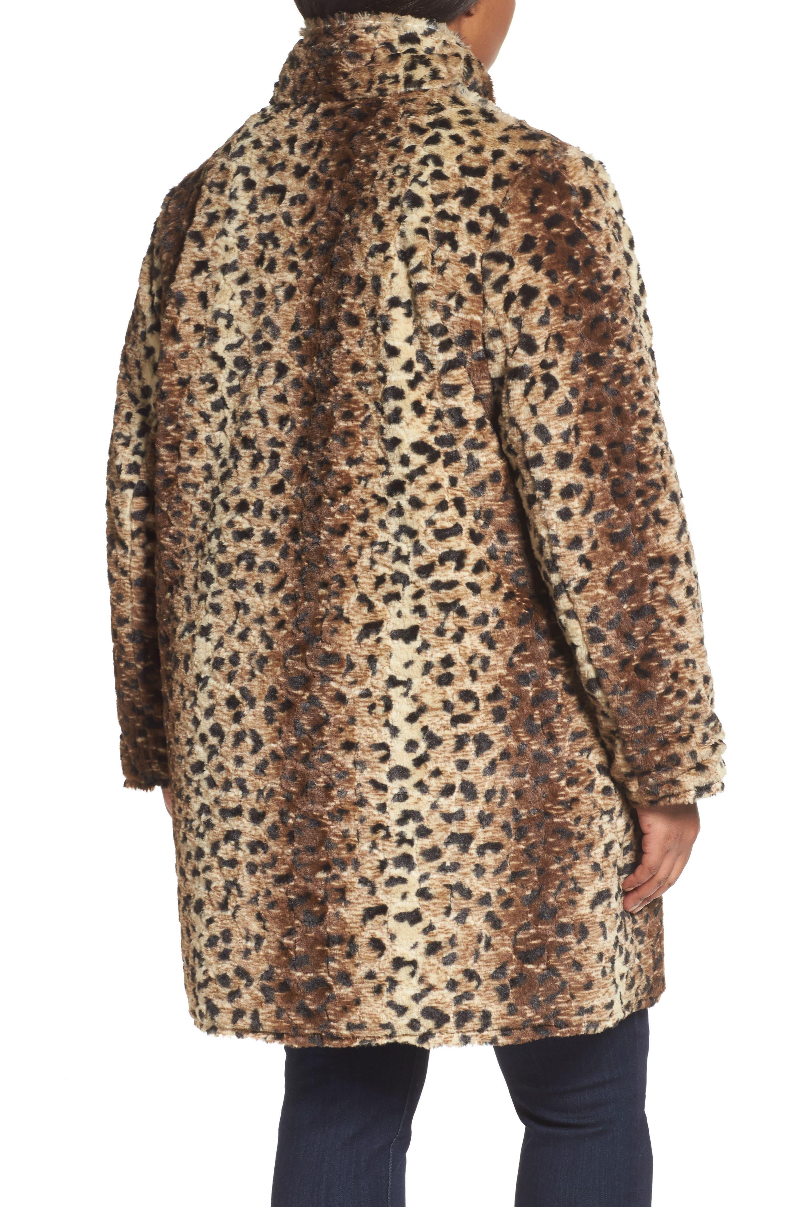 Reversible Coat,                             Alternate thumbnail 2, color,                             Cheetah