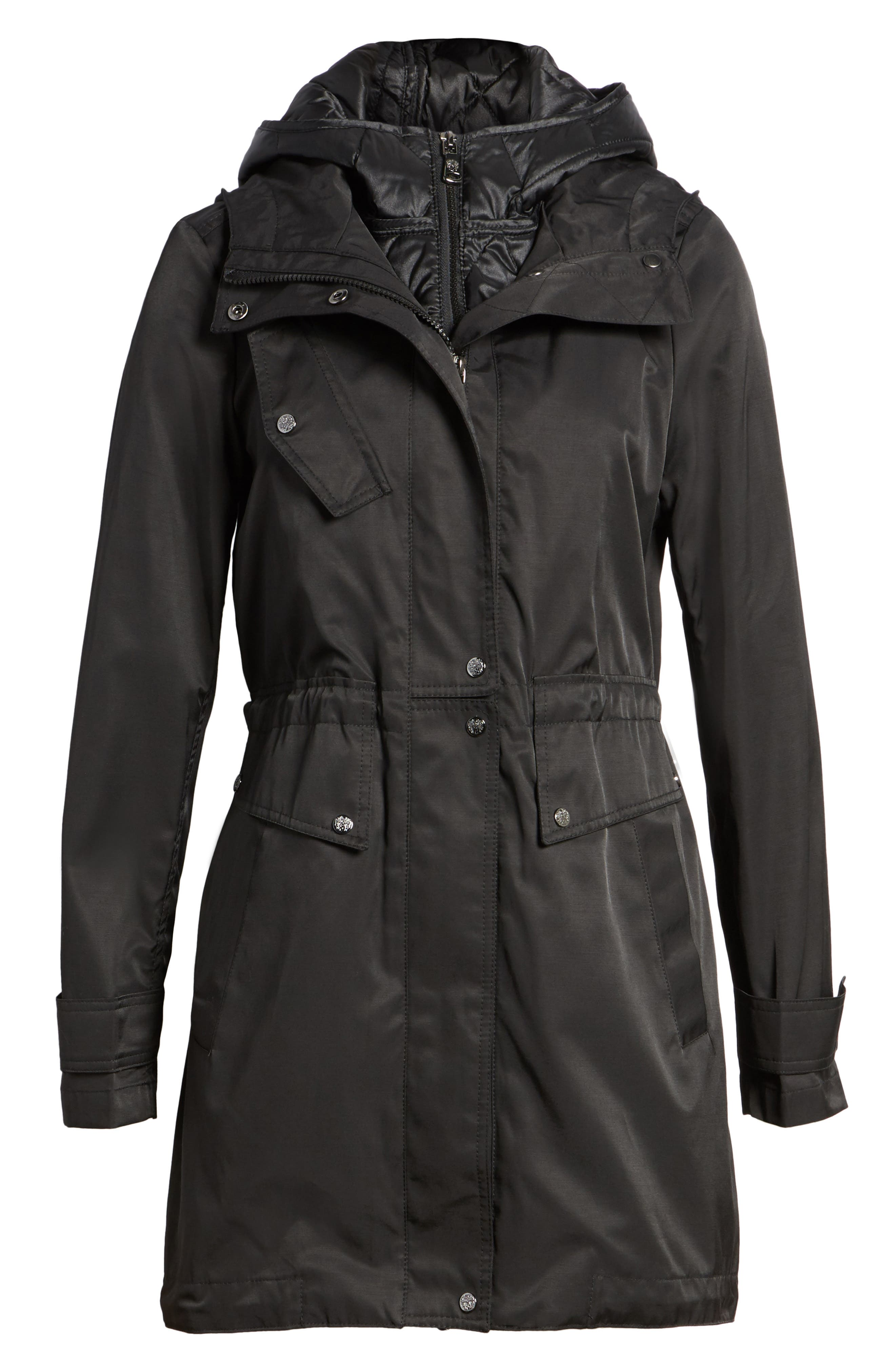 Alternate Image 6  - Vince Camuto Parka with Detachable Bib Insert