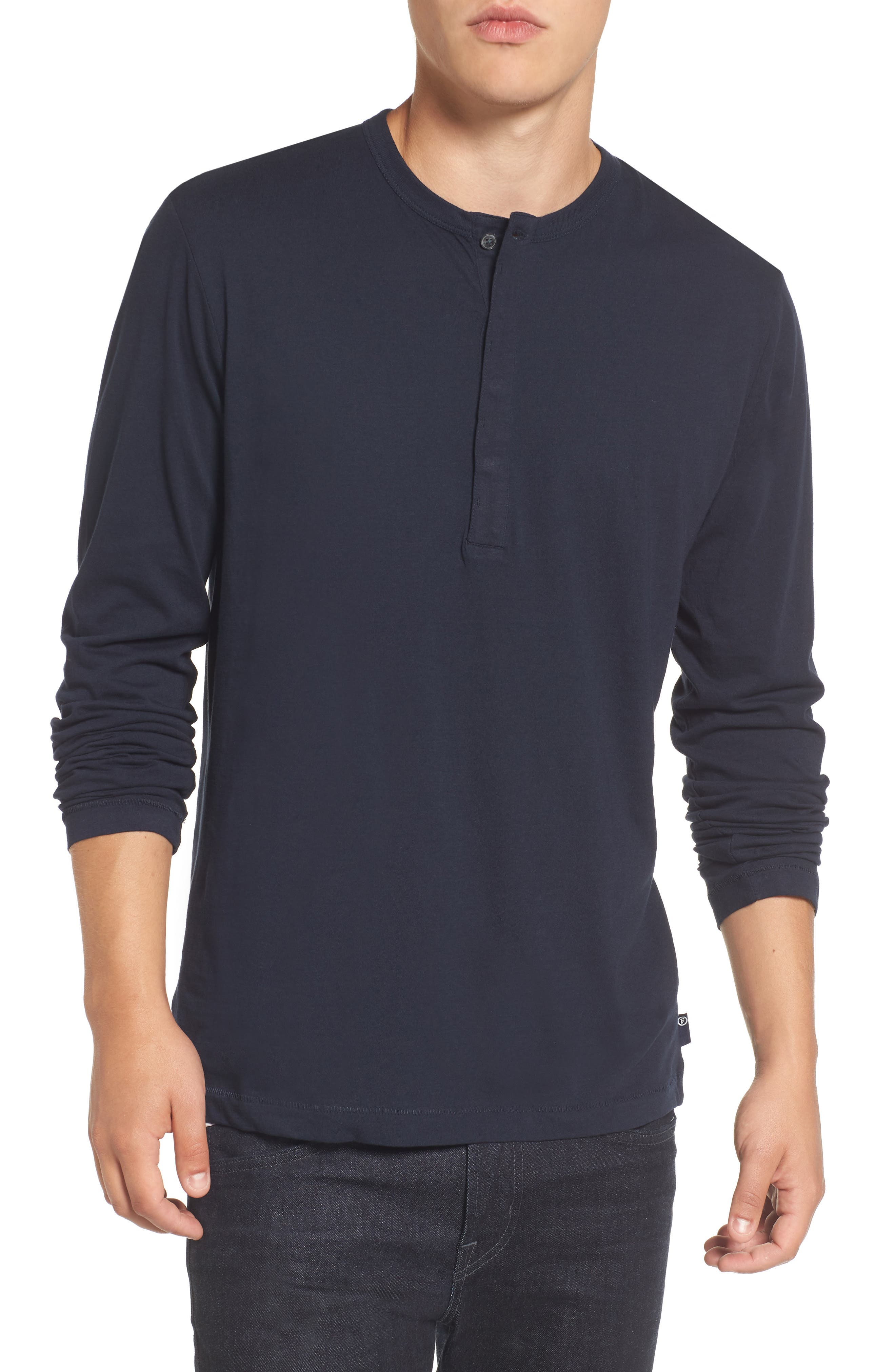Alternate Image 1 Selected - French Connection Long-Sleeve Henley T-Shirt