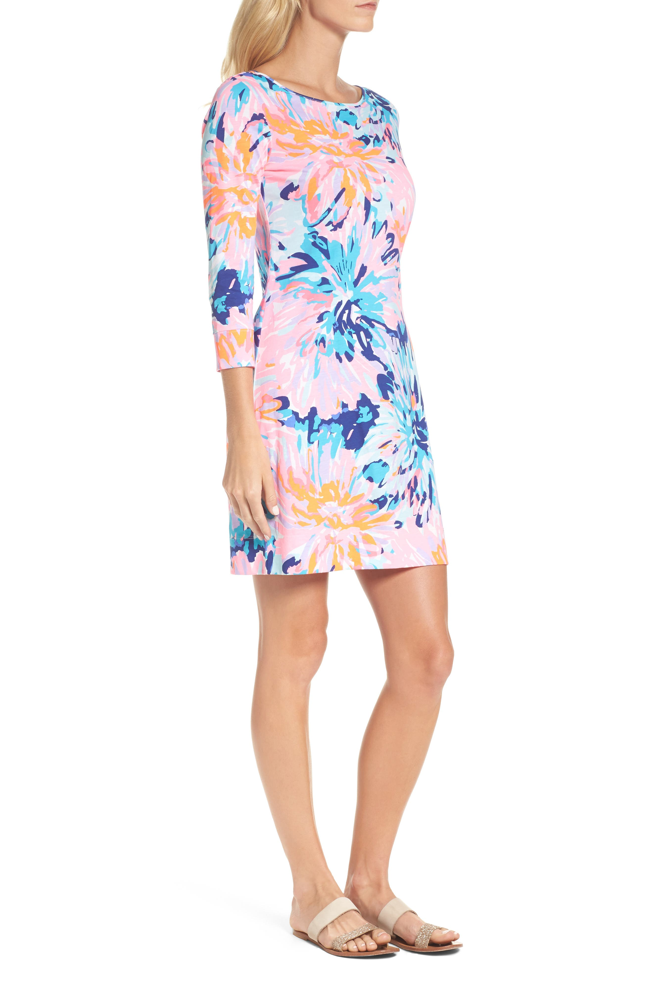 Marlowe T-Shirt Dress,                             Alternate thumbnail 3, color,                             Multi Off Tropic