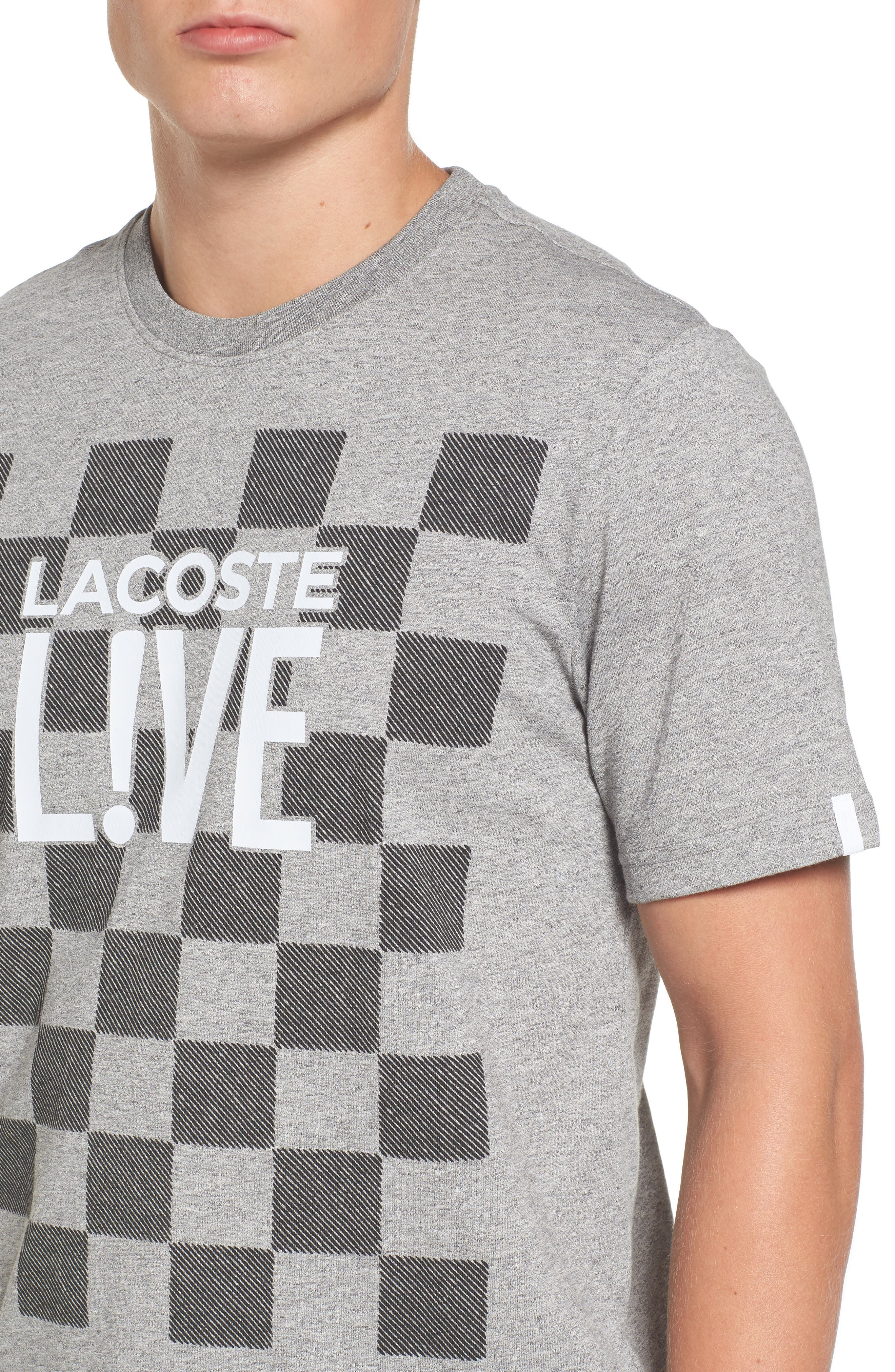 Alternate Image 4  - Lacoste Check Graphic T-Shirt