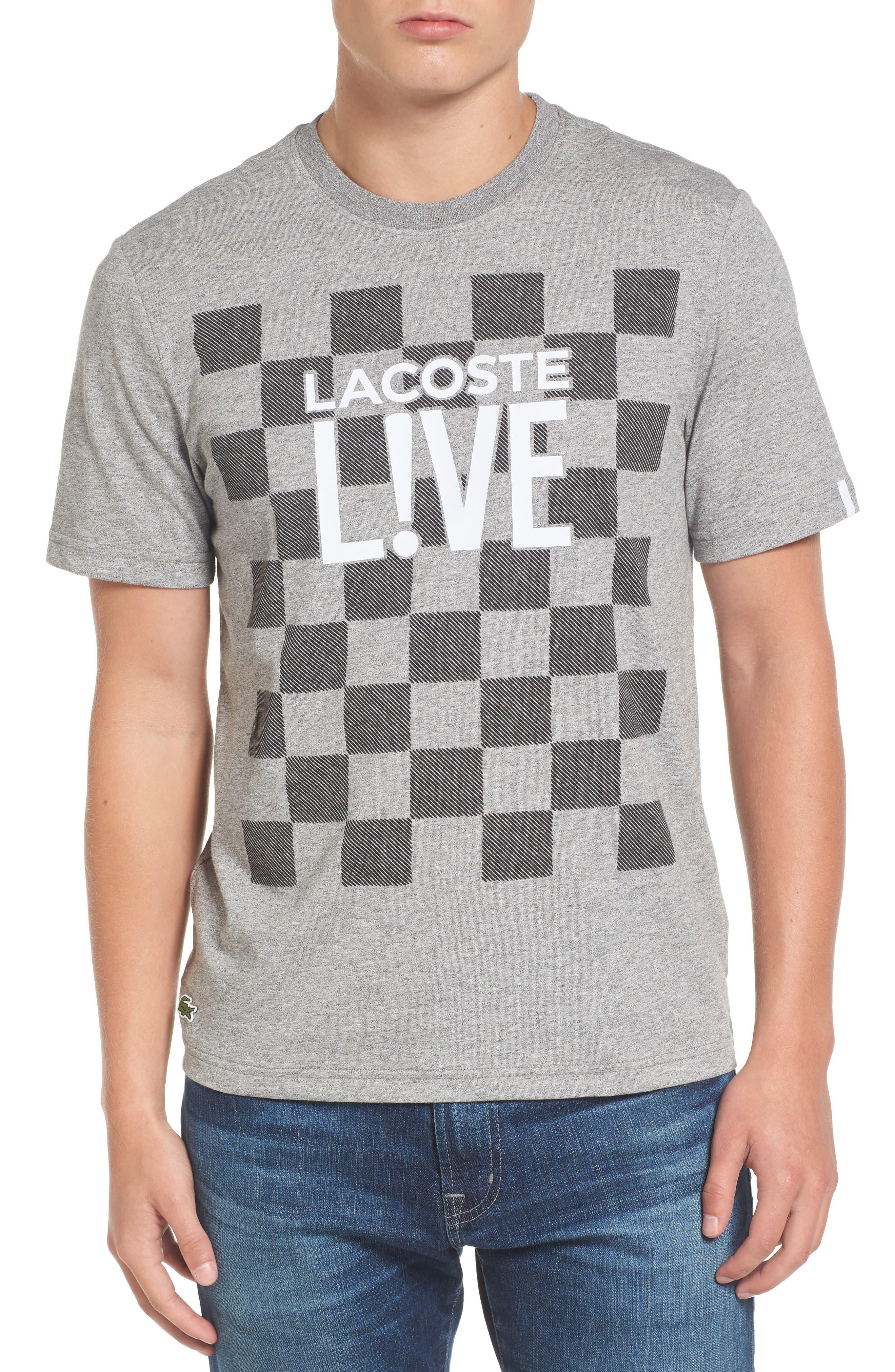 Check Graphic T-Shirt,                         Main,                         color, Palladium Mouline/ Black