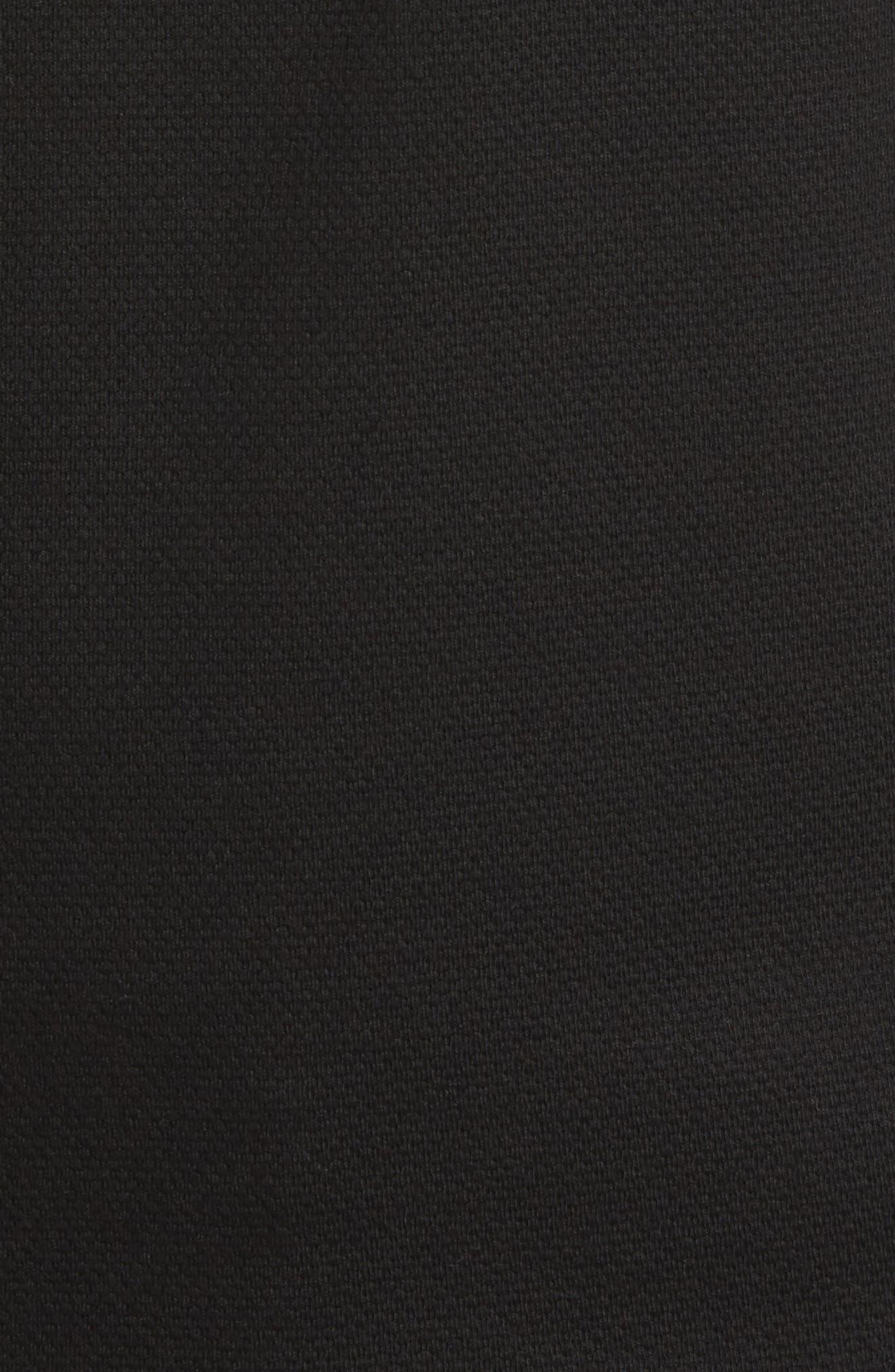 Hewitt Quarter-Zip Waffle Knit Pullover,                             Alternate thumbnail 5, color,                             Black