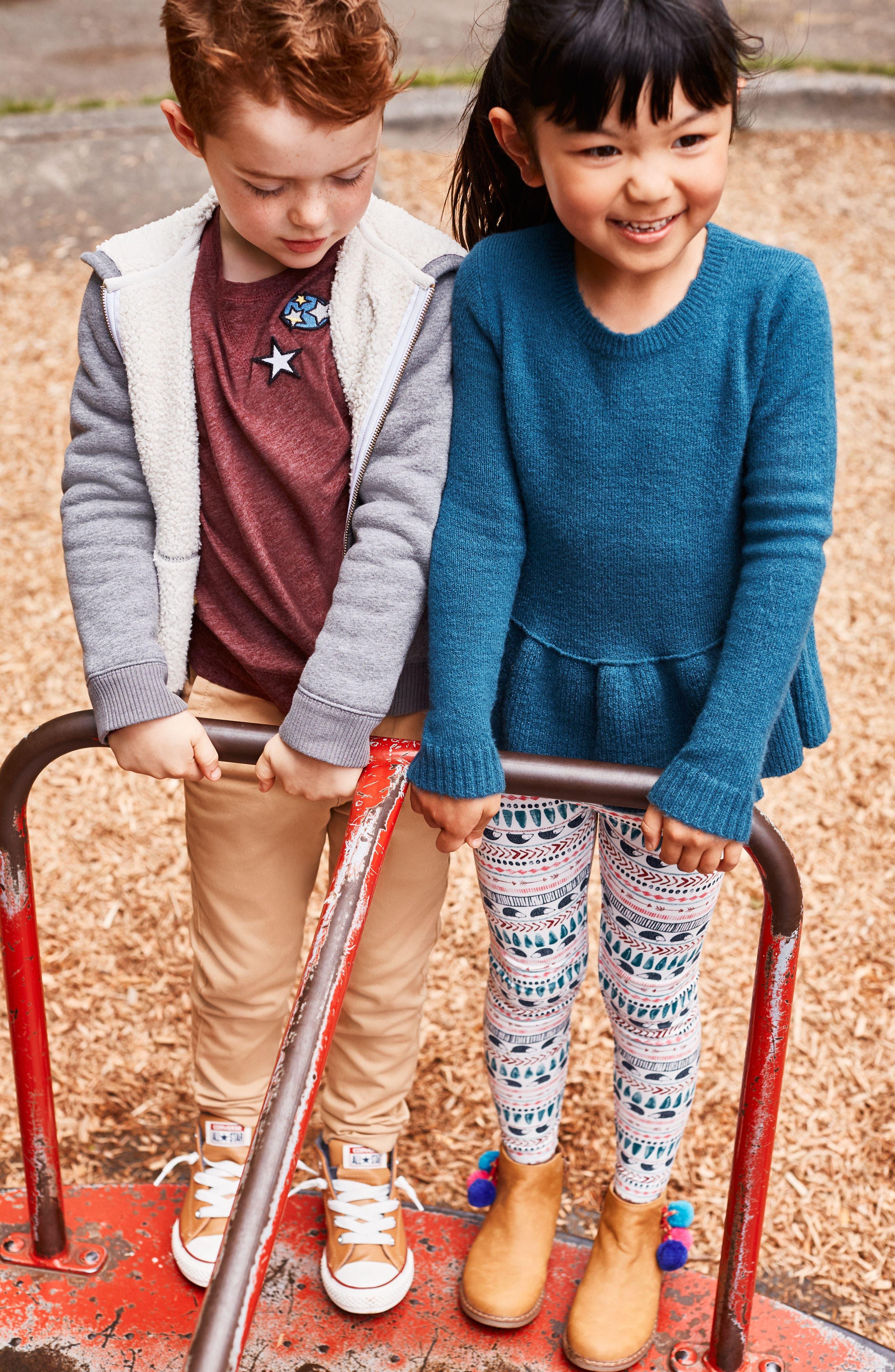 Alternate Image 5  - Tucker + Tate Ruffle Hem Sweater (Toddler Girls, Little Girls & Big Girls)