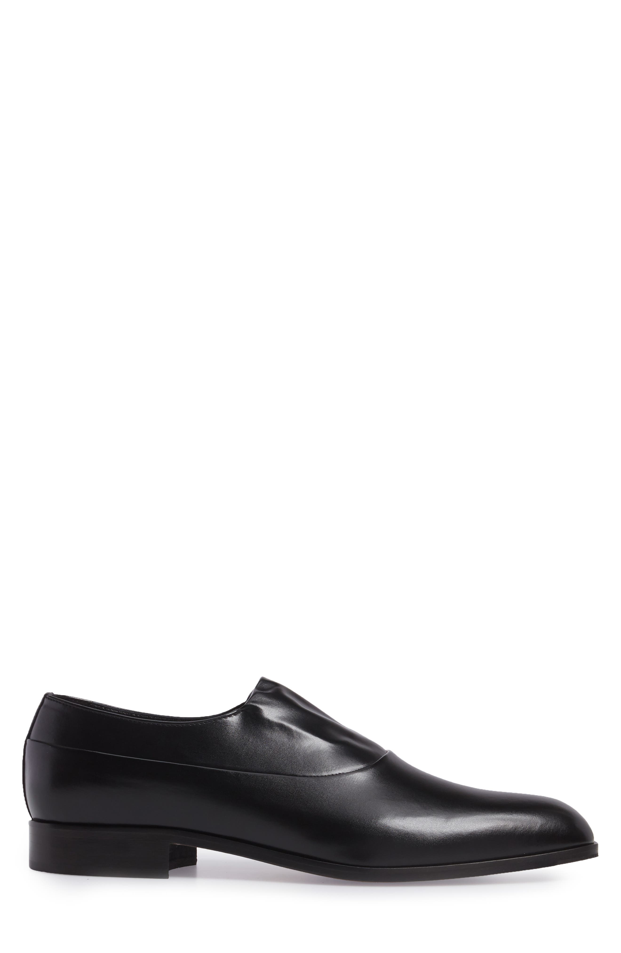 Marcio Venetian Loafer,                             Alternate thumbnail 3, color,                             Black