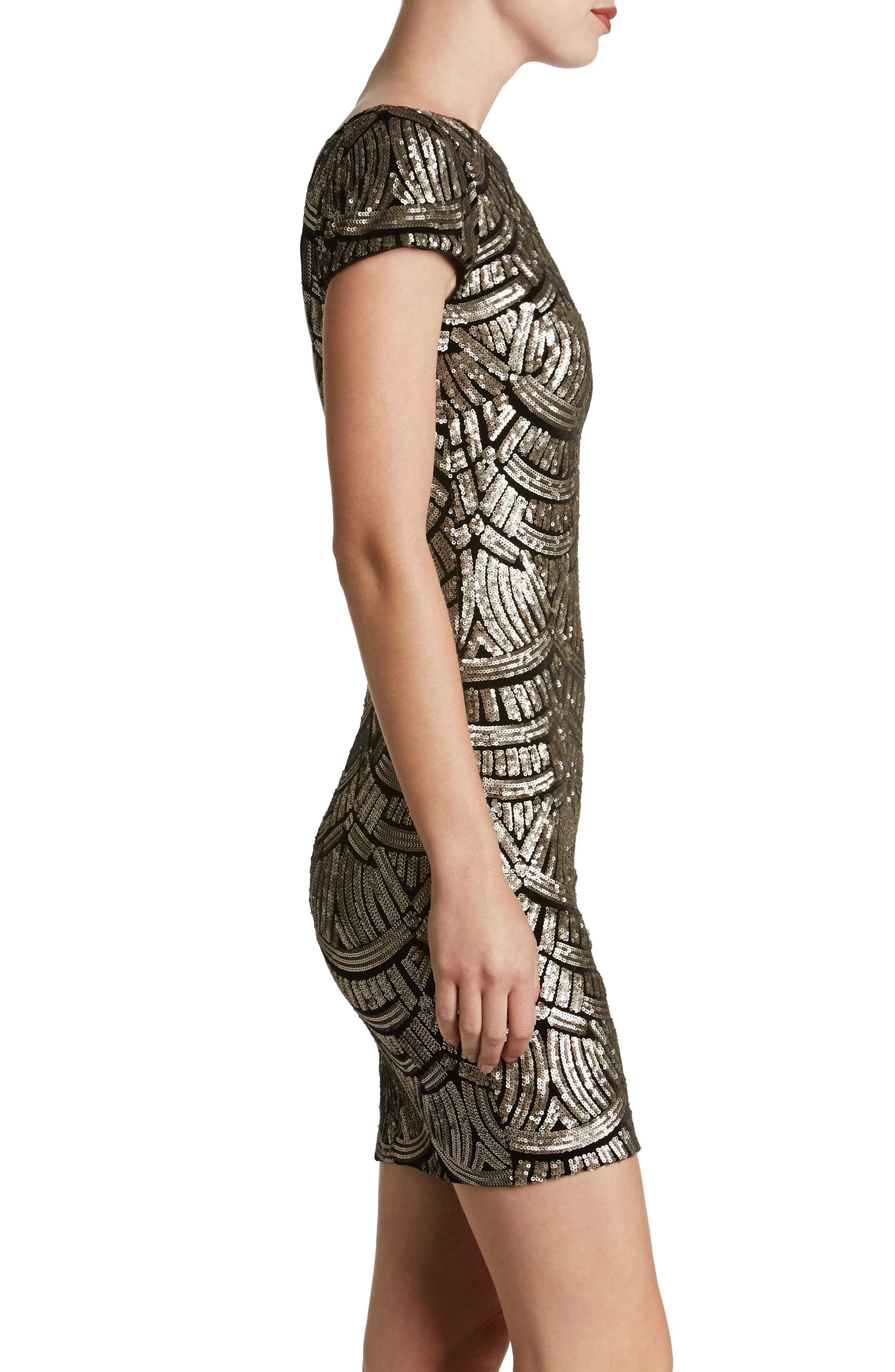 Alternate Image 3  - Dress the Population Tabitha Sequin Body-Con Dress (Nordstrom Exclusive)