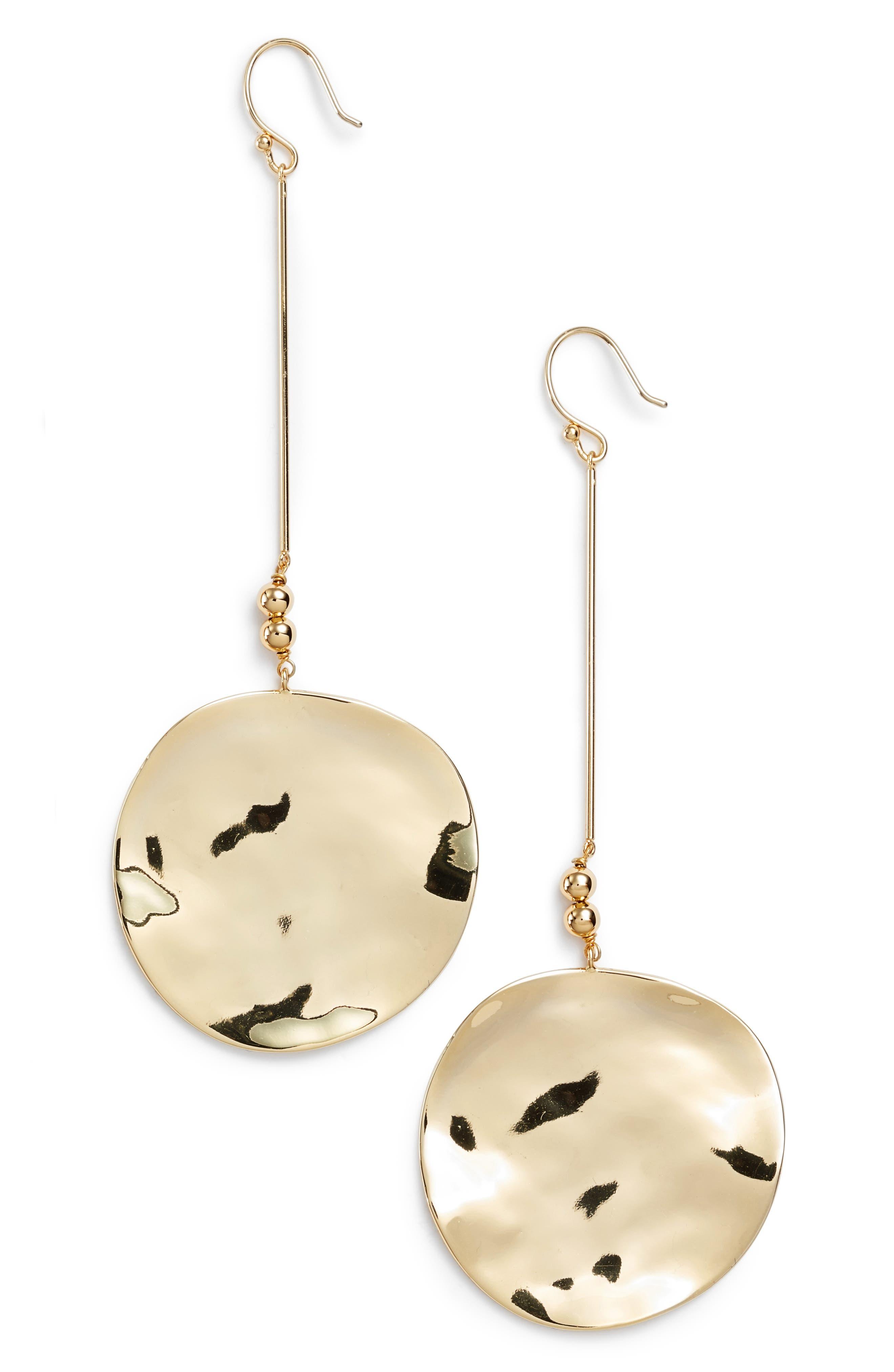 Chloe Drop Earrings,                             Main thumbnail 1, color,                             Gold