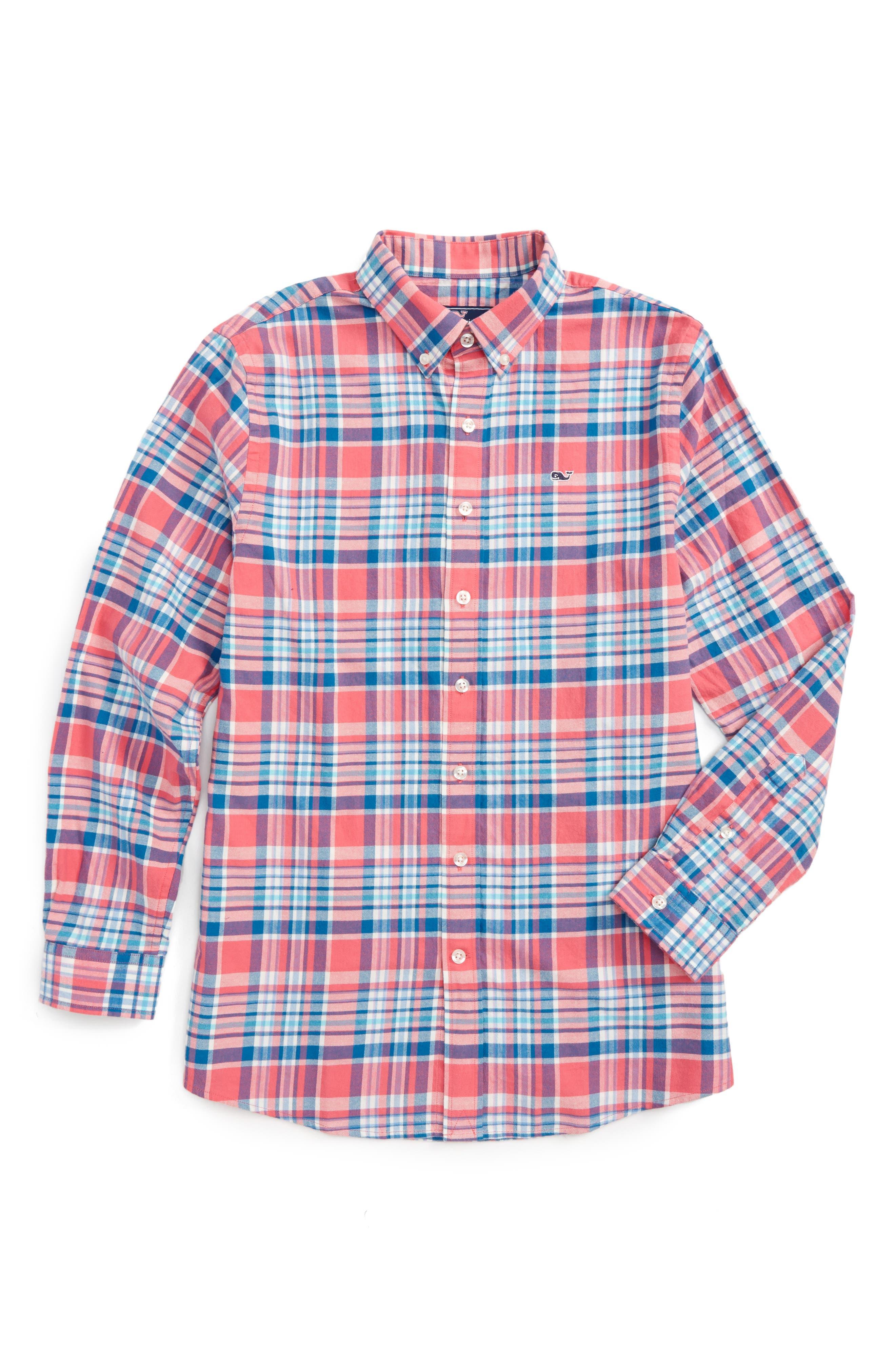 Vineyard Vines Middleton Plaid Flannel Shirt (Big Boys)