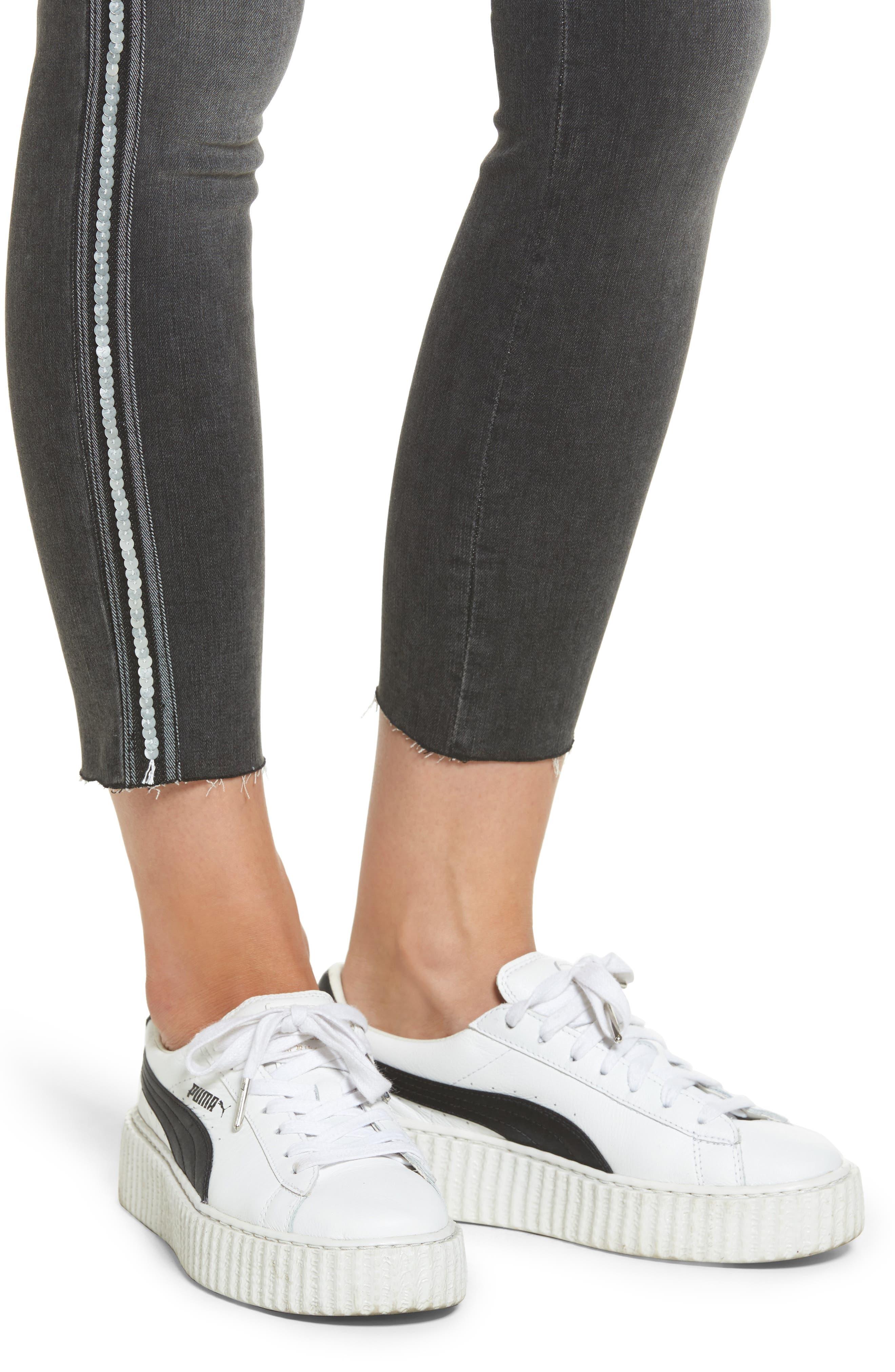 Alternate Image 4  - STS Blue Tuxedo Stripe Skinny Jeans