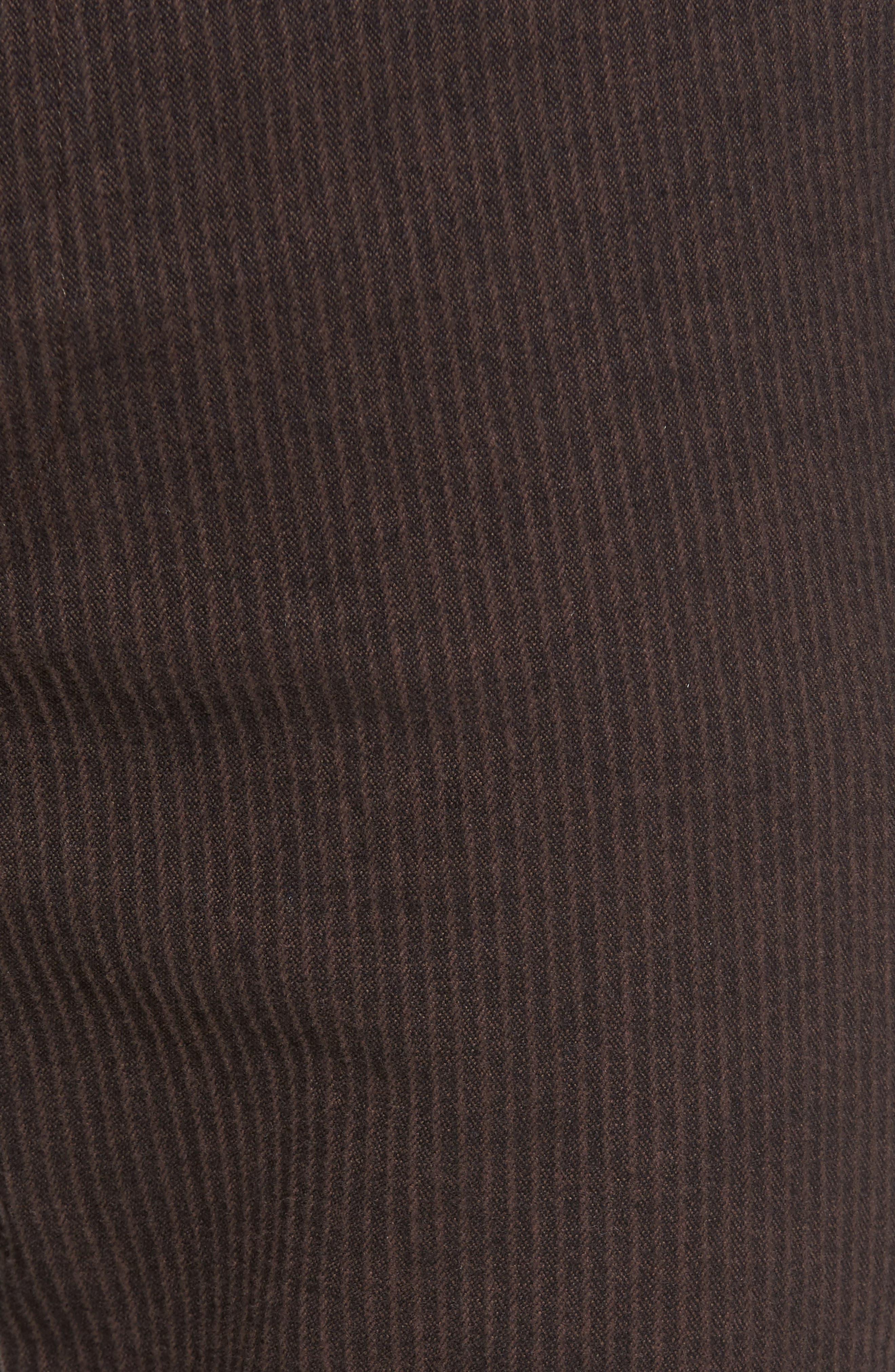 Marshall Slim Fit Pinstripe Pants,                             Alternate thumbnail 6, color,                             Dark Oakwood