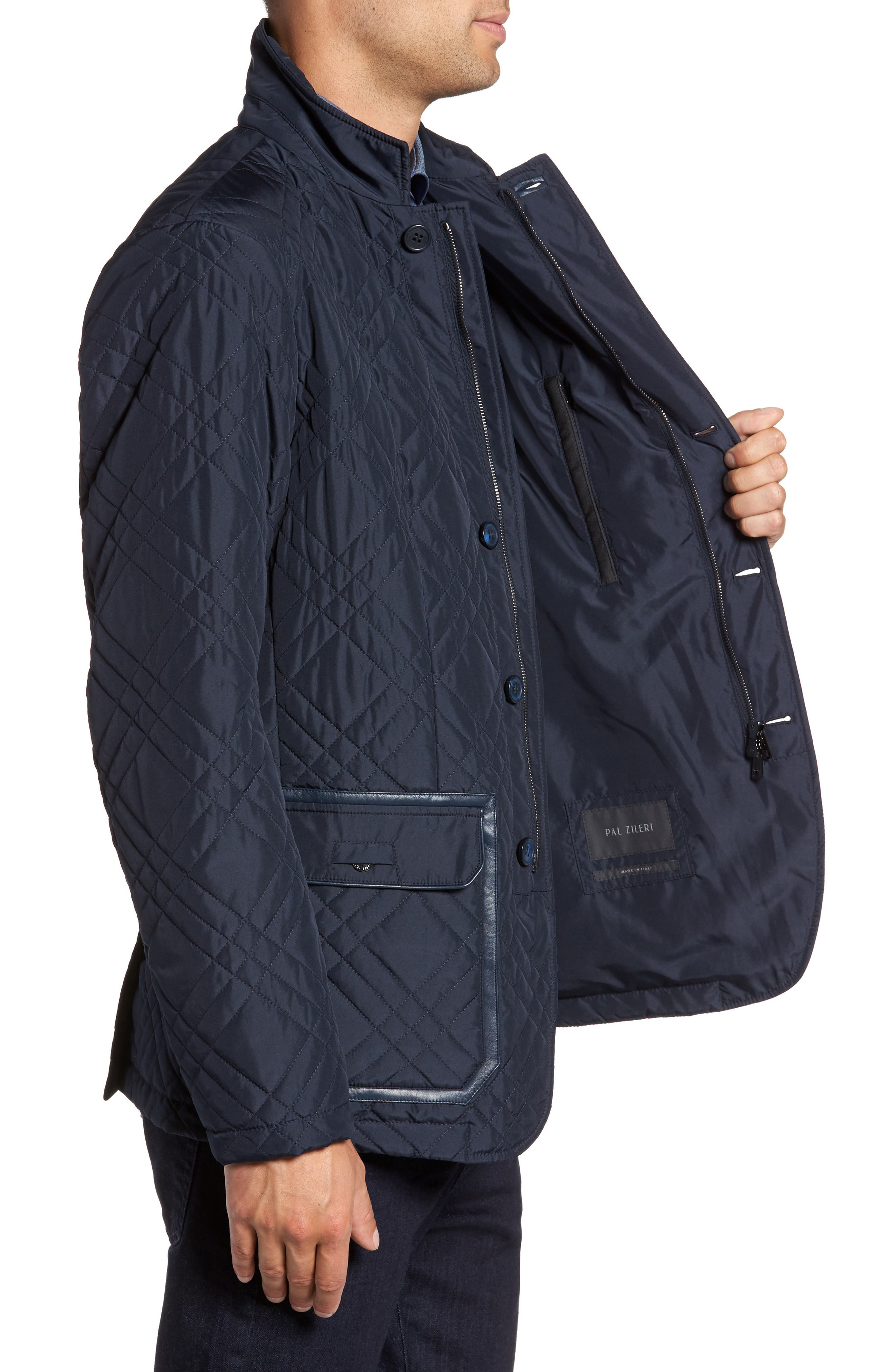Quilted Field Jacket,                             Alternate thumbnail 4, color,                             Blue Navy