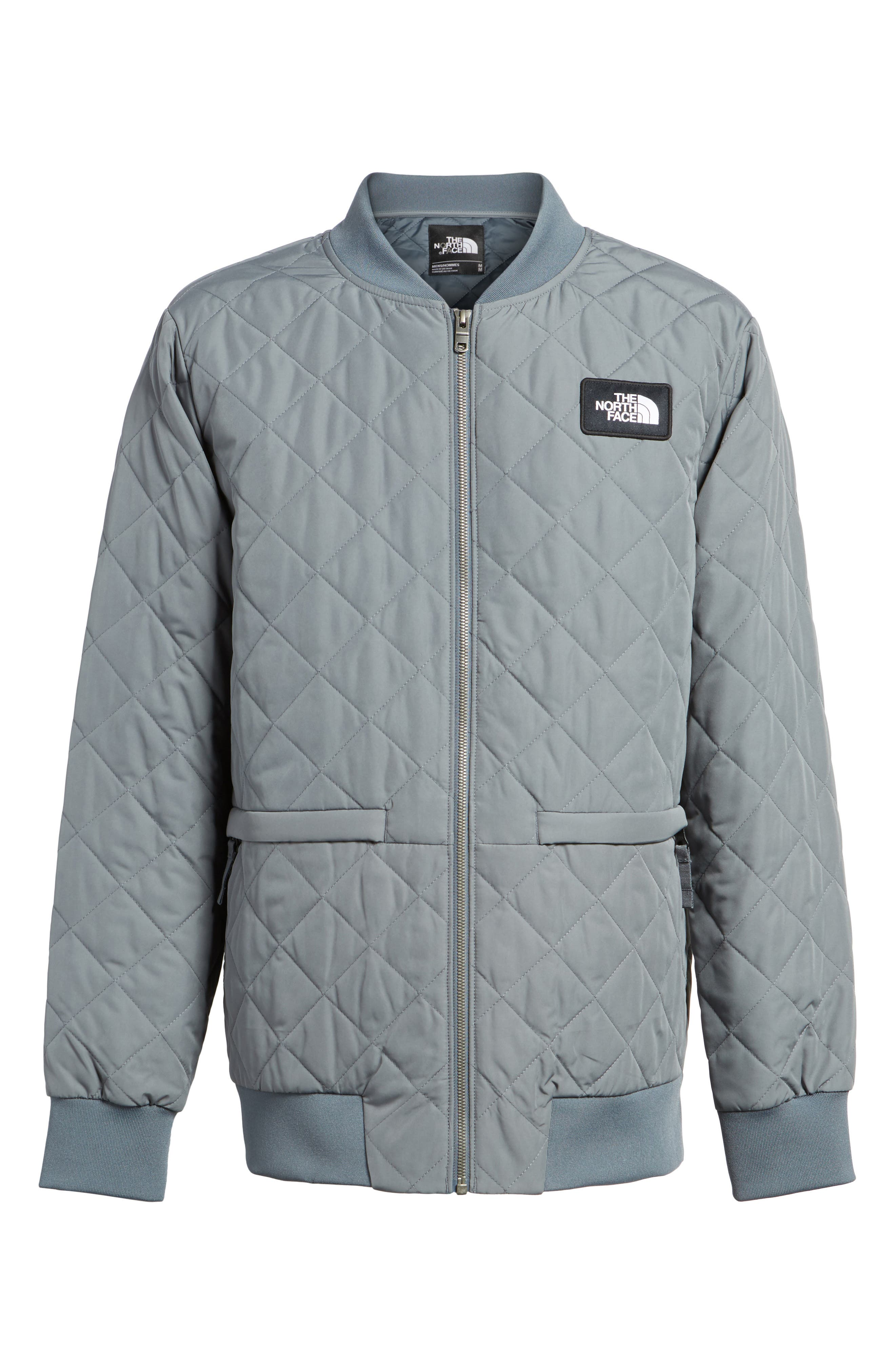 Distributor Quilted Bomber Jacket,                             Alternate thumbnail 6, color,                             Grey