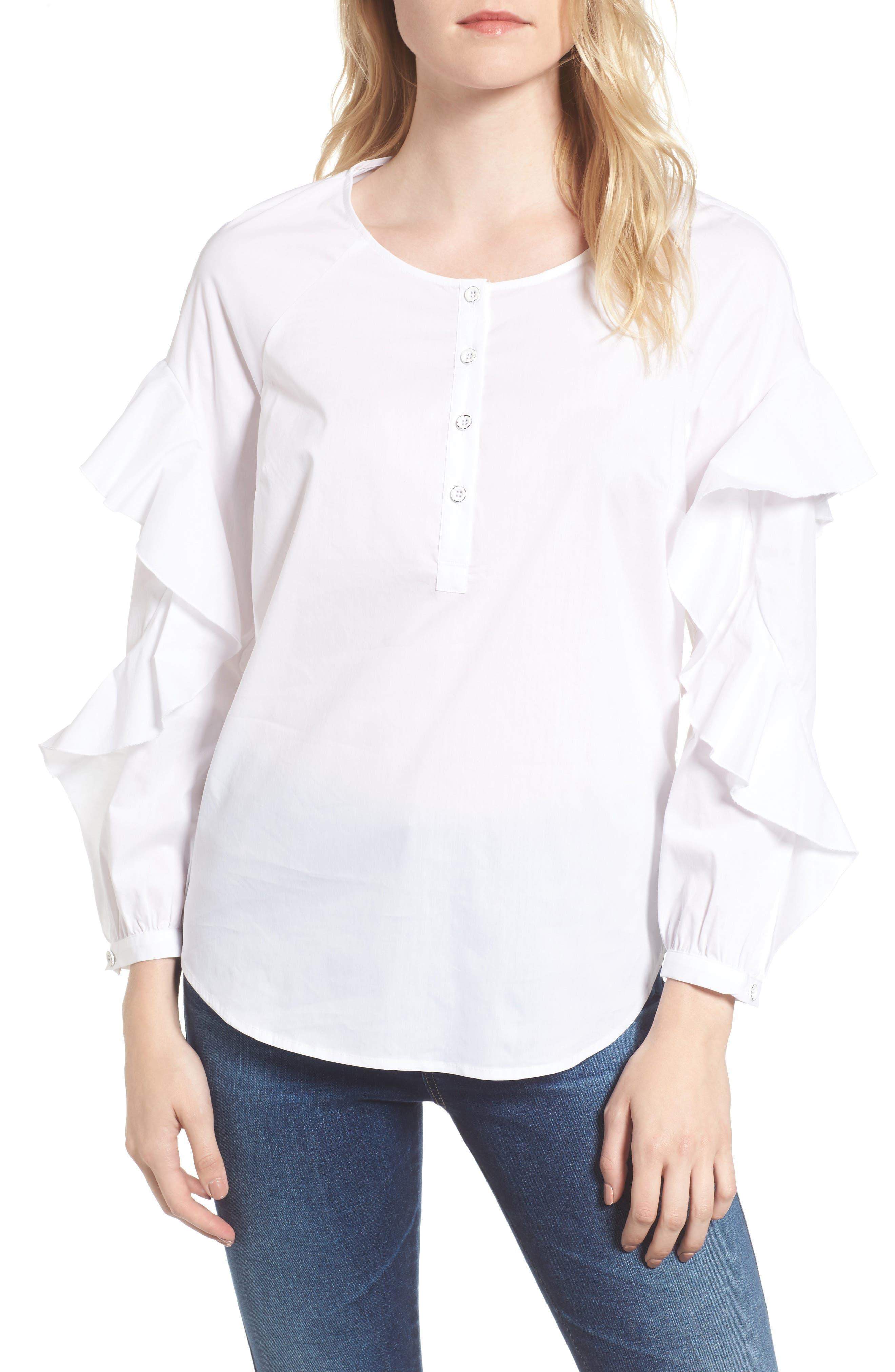 Splendid Ruffle Sleeve Shirt