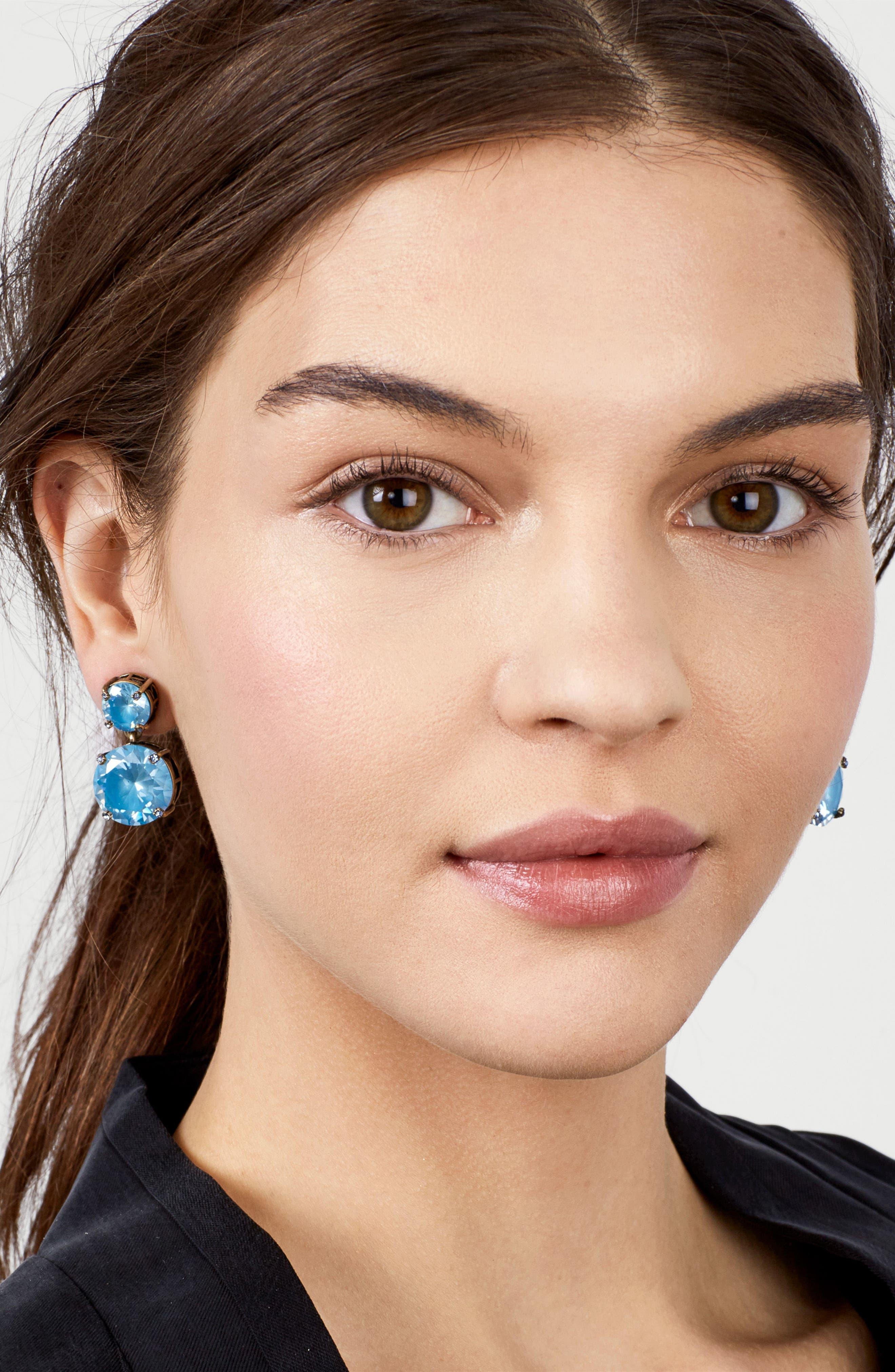 Petite Stud Earrings,                             Alternate thumbnail 3, color,                             Blue