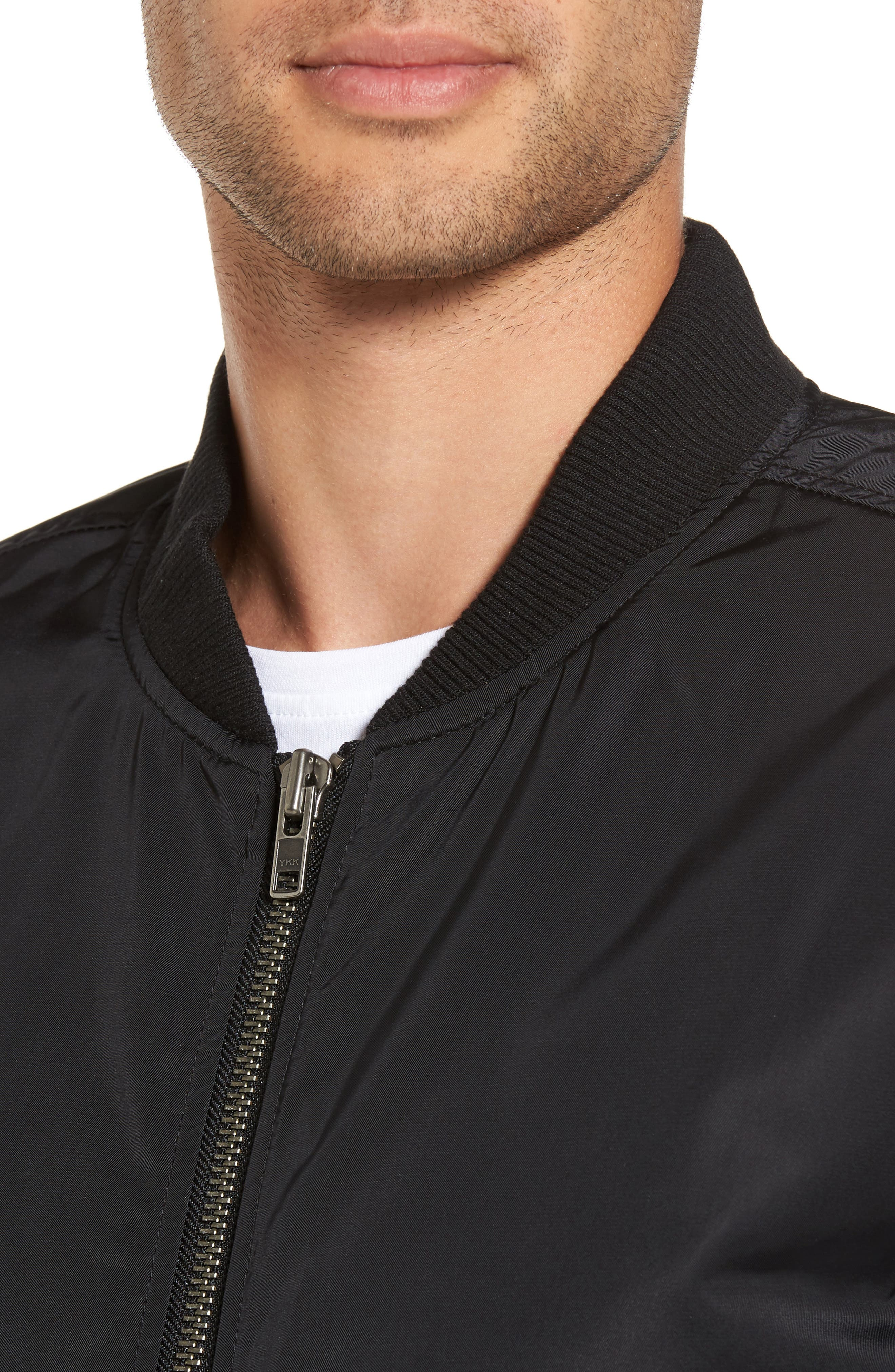 Mason Bomber Jacket,                             Alternate thumbnail 4, color,                             Black