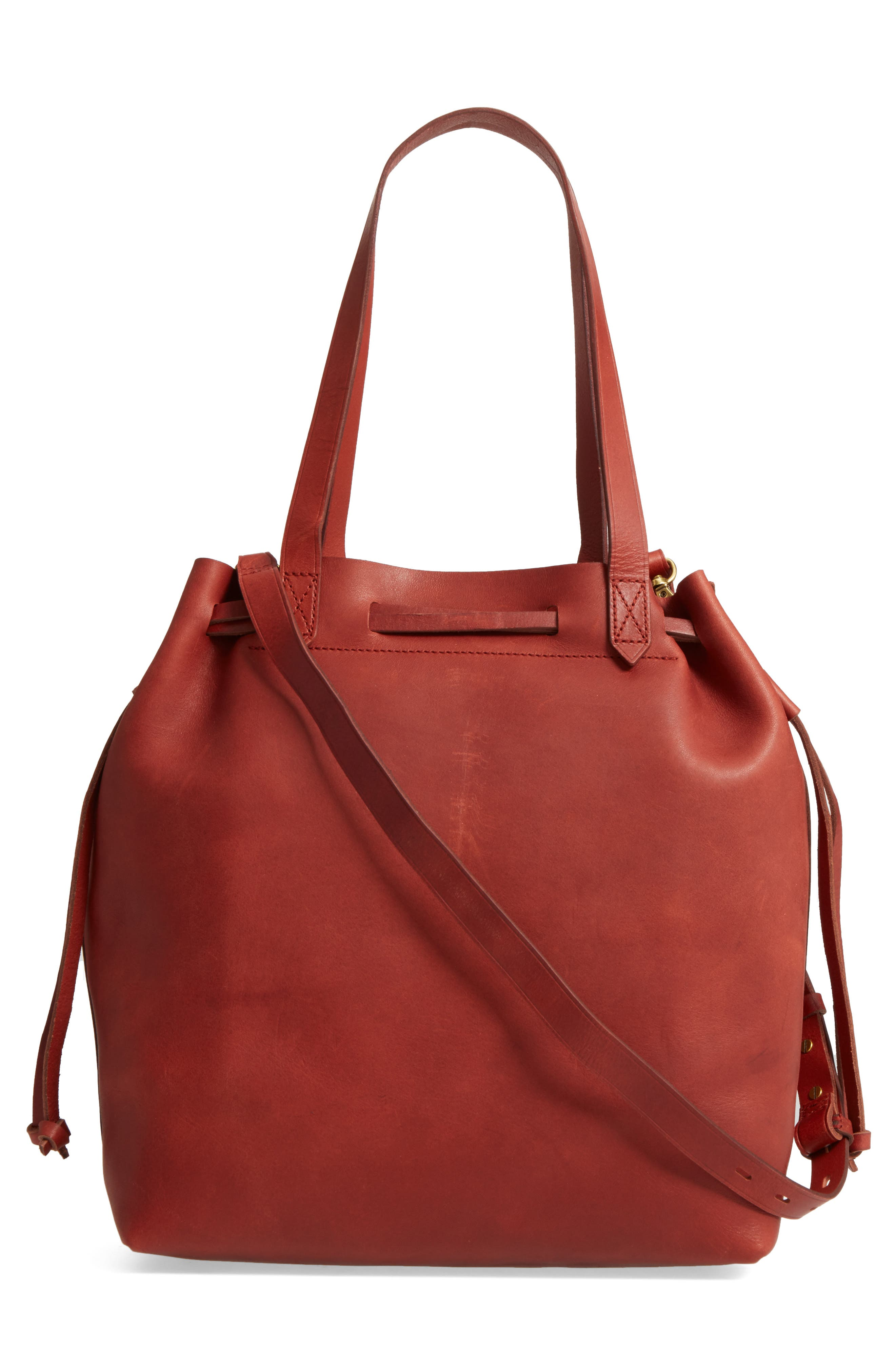 Alternate Image 3  - Madewell Medium Transport Leather Bucket Bag