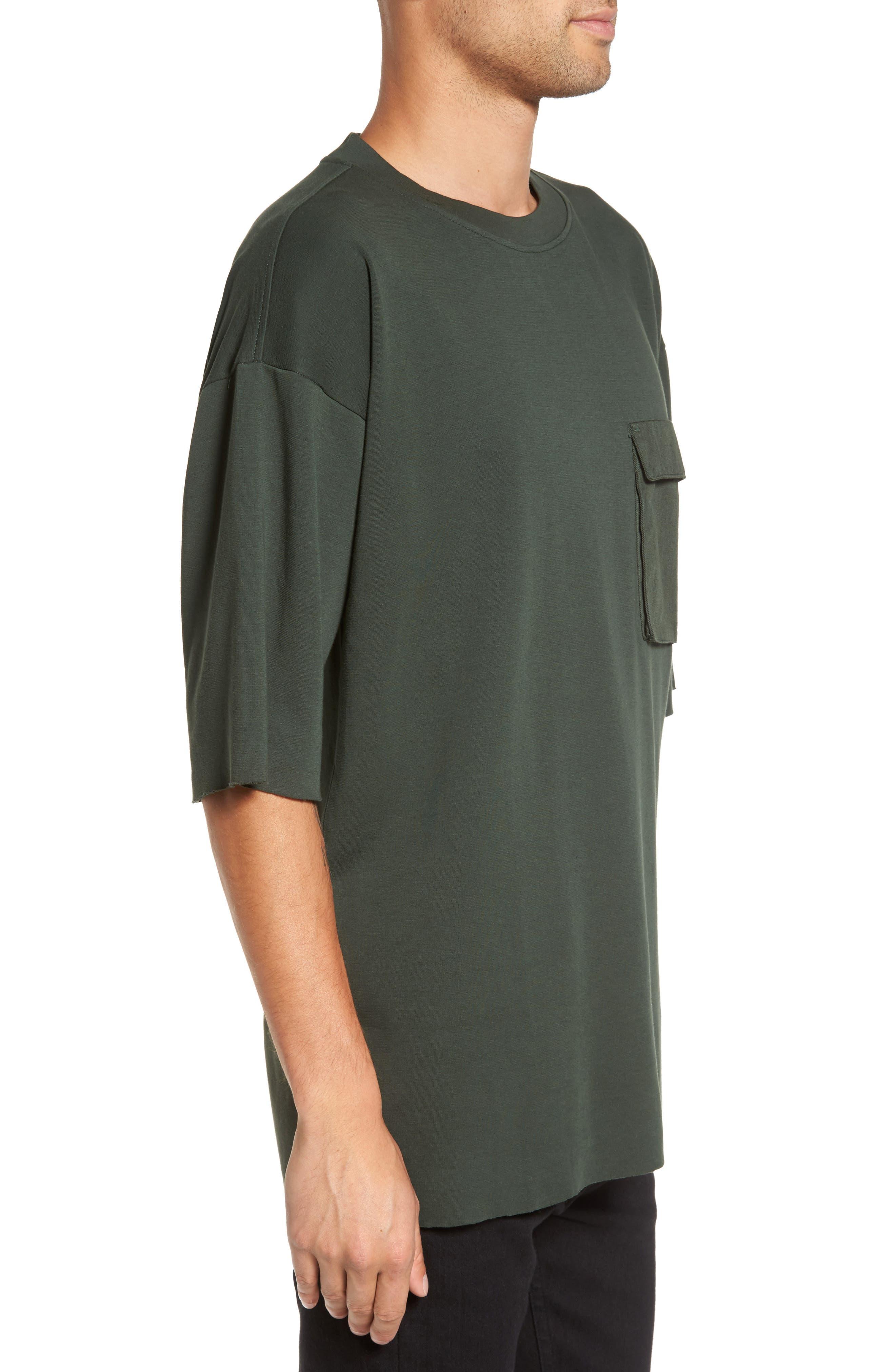 Mauno Pocket T-Shirt,                             Alternate thumbnail 3, color,                             Riot Green