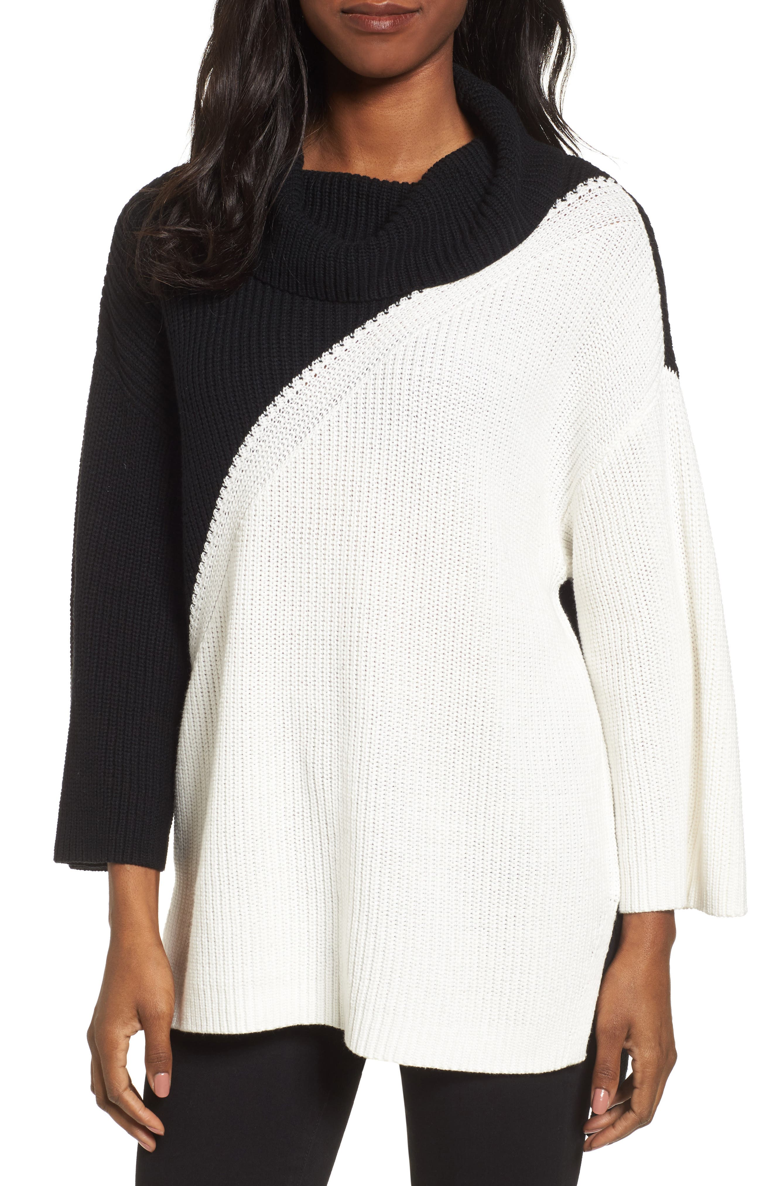 Alternate Image 1 Selected - Chaus Colorblock Cowl Neck Sweater