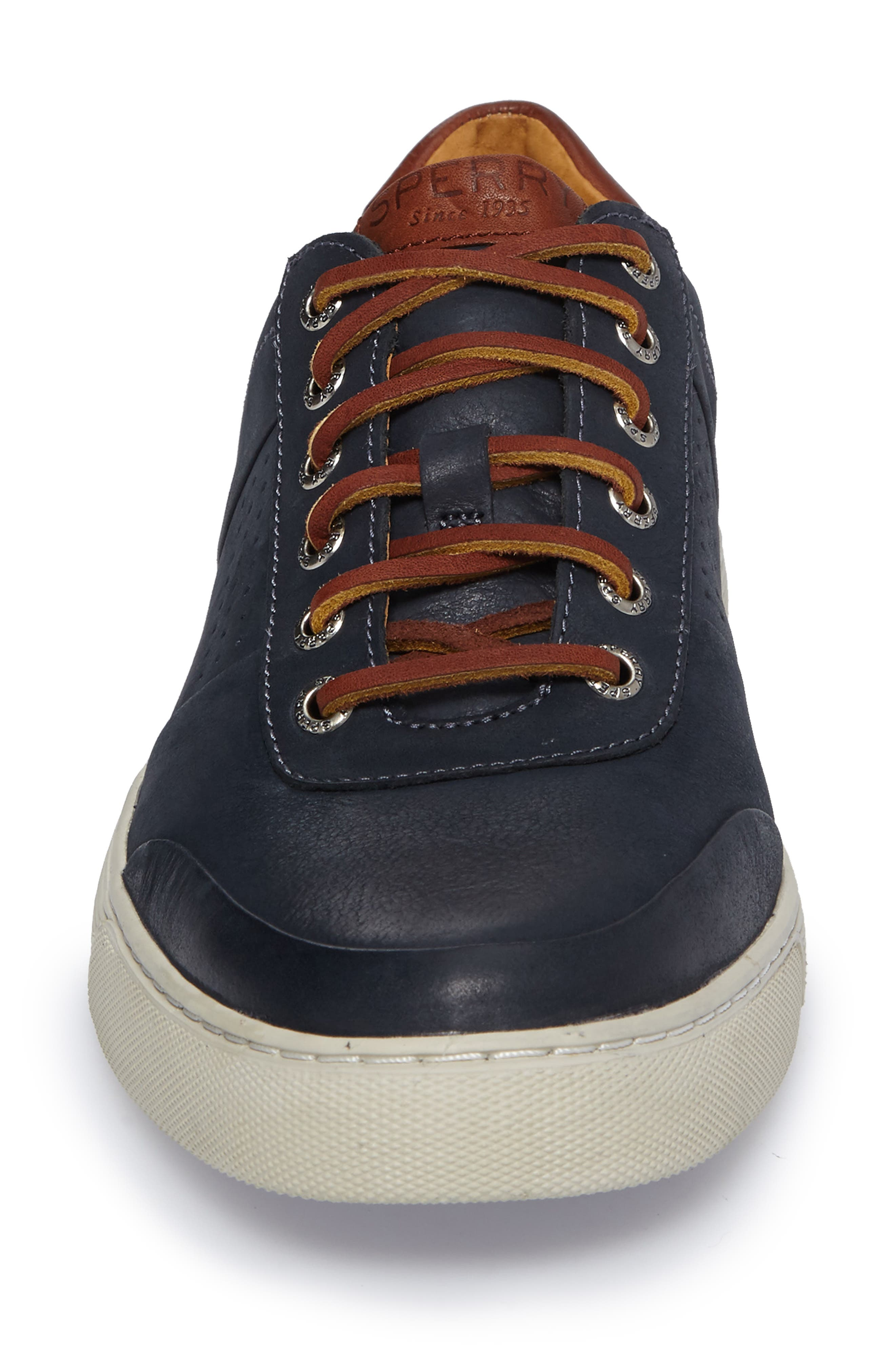 Gold Cup Sport Sneaker,                             Alternate thumbnail 4, color,                             Navy Leather