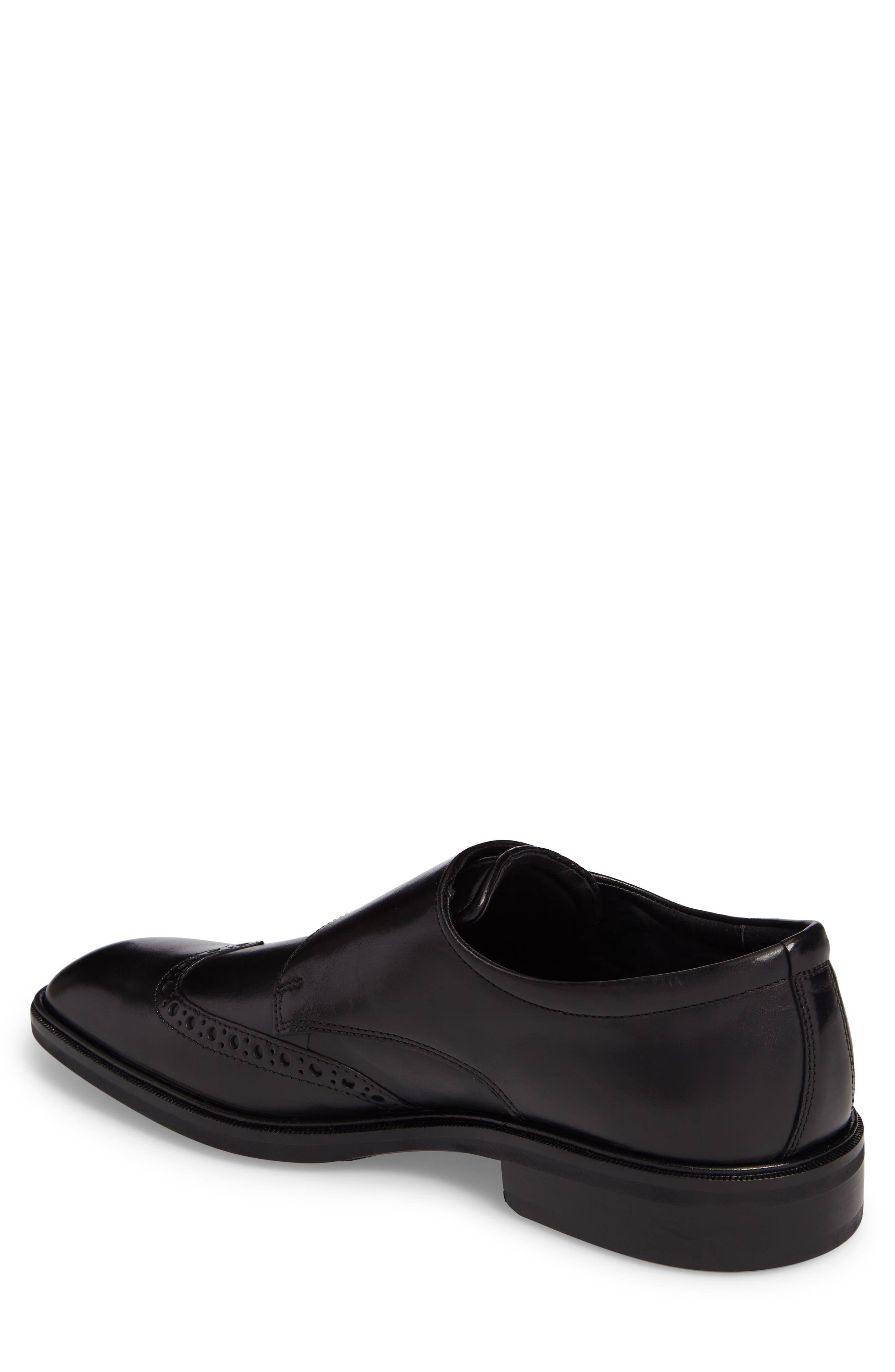 Illinois Double Monk Strap Shoe,                             Alternate thumbnail 2, color,                             Black Leather