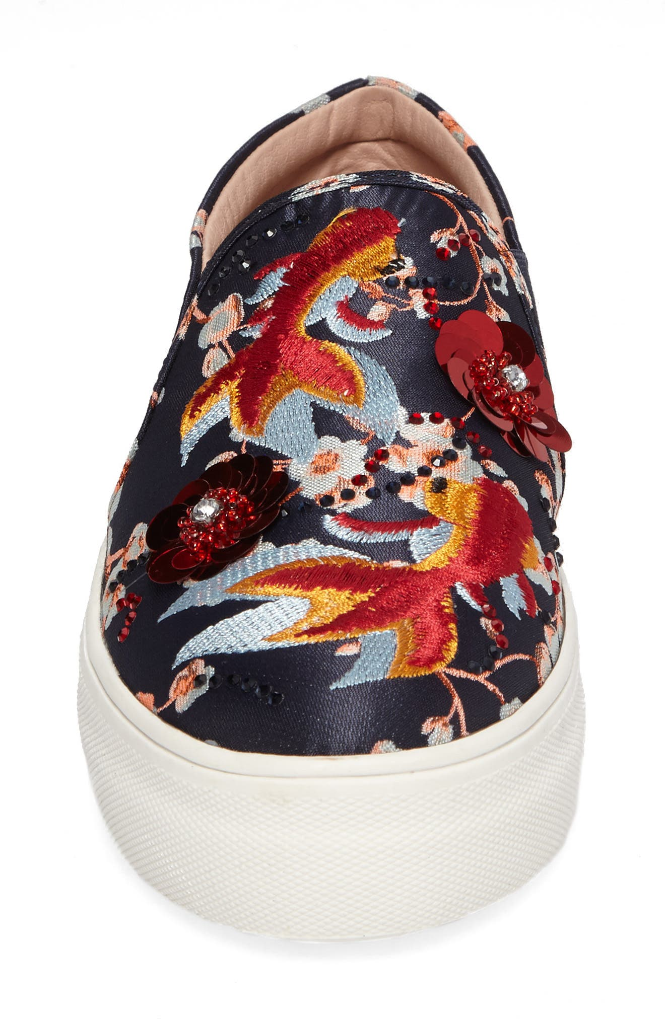 Alternate Image 4  - Topshop Theory Goldfish Embellished Slip-On Sneaker (Women)