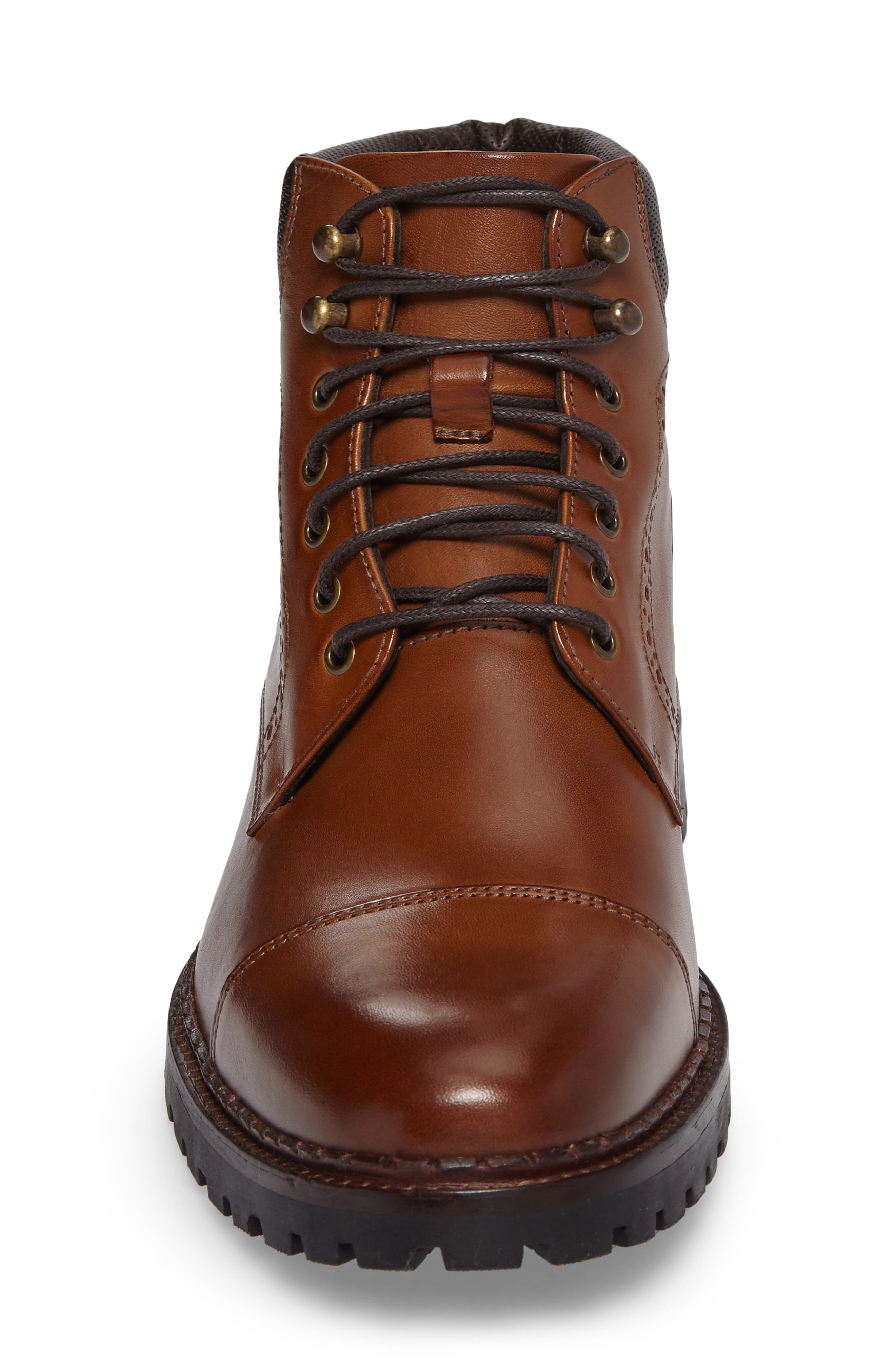 Jennings Cap Toe Boot,                             Alternate thumbnail 4, color,                             Tan