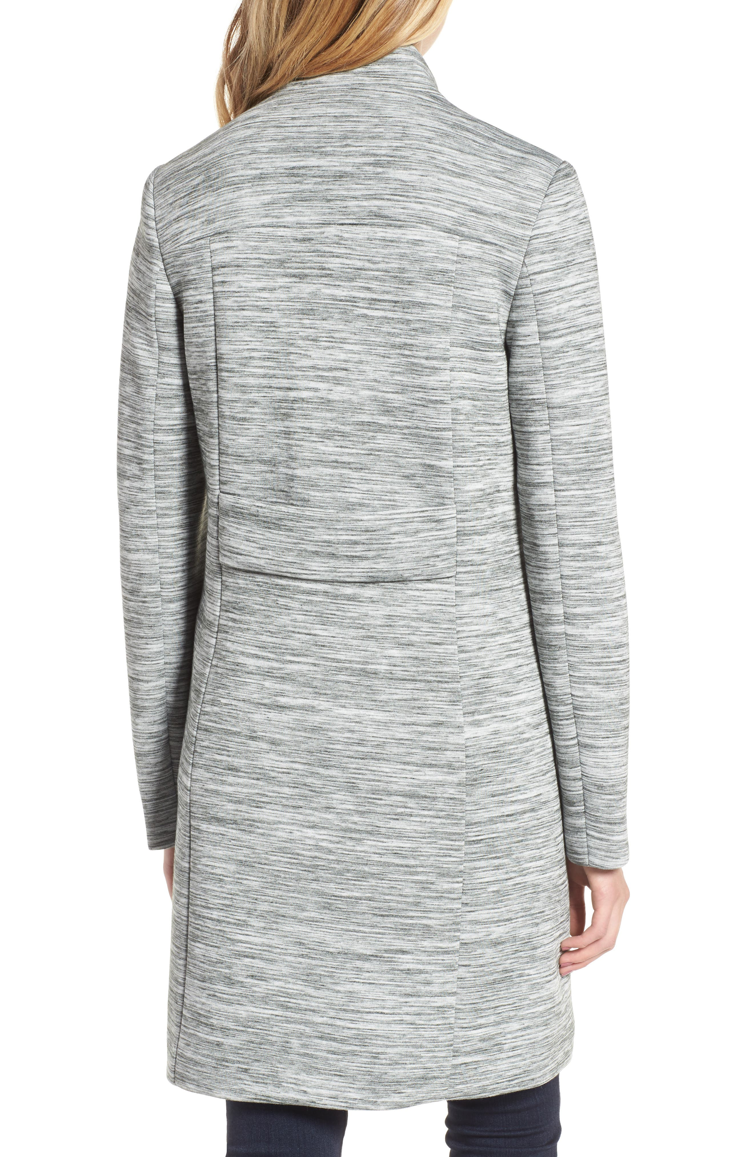 Knit Coat,                             Alternate thumbnail 2, color,                             Light Grey