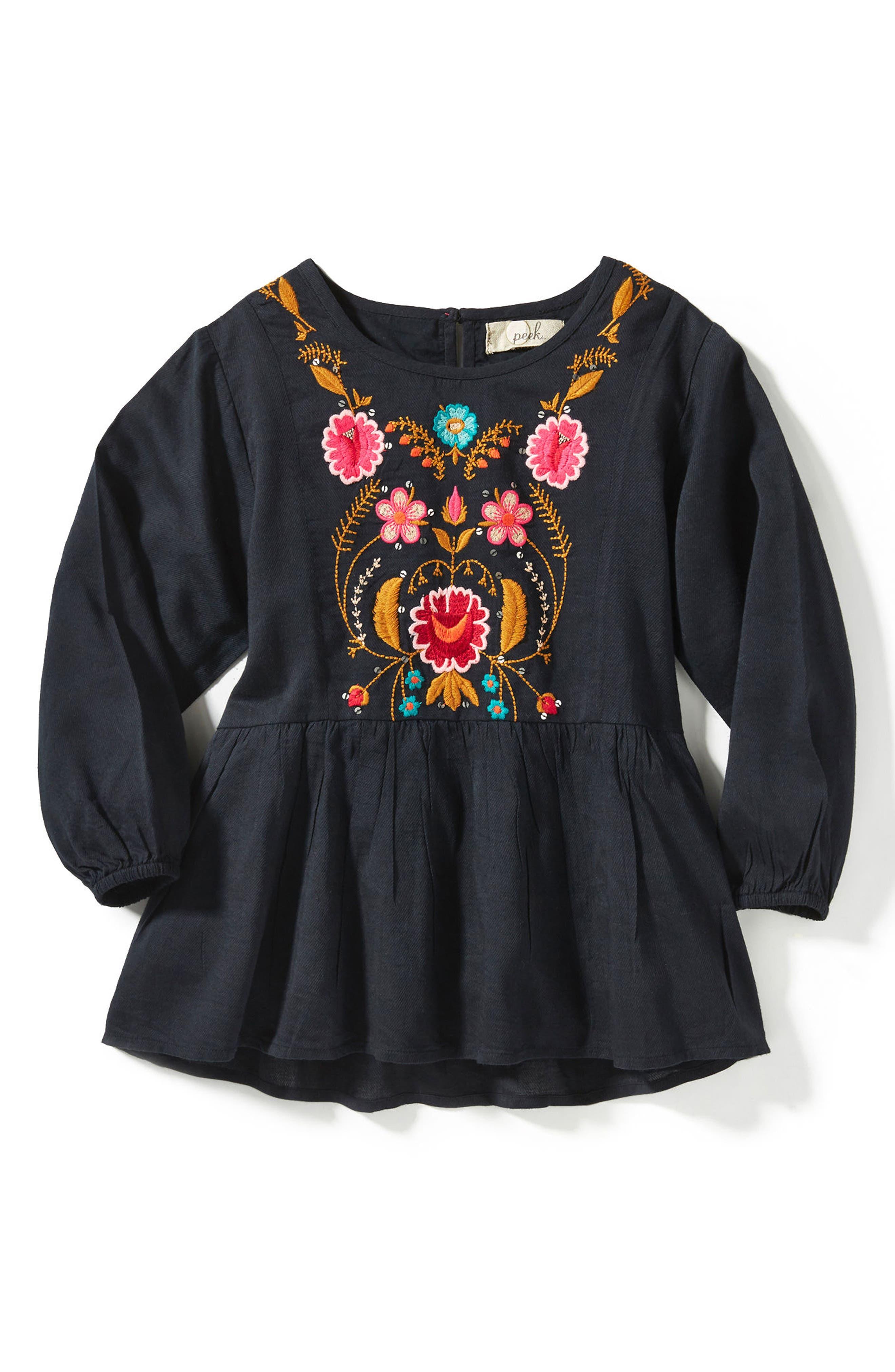 Peek Emma Embroidered Top (Toddler Girls, Little Girls & Big Girls)