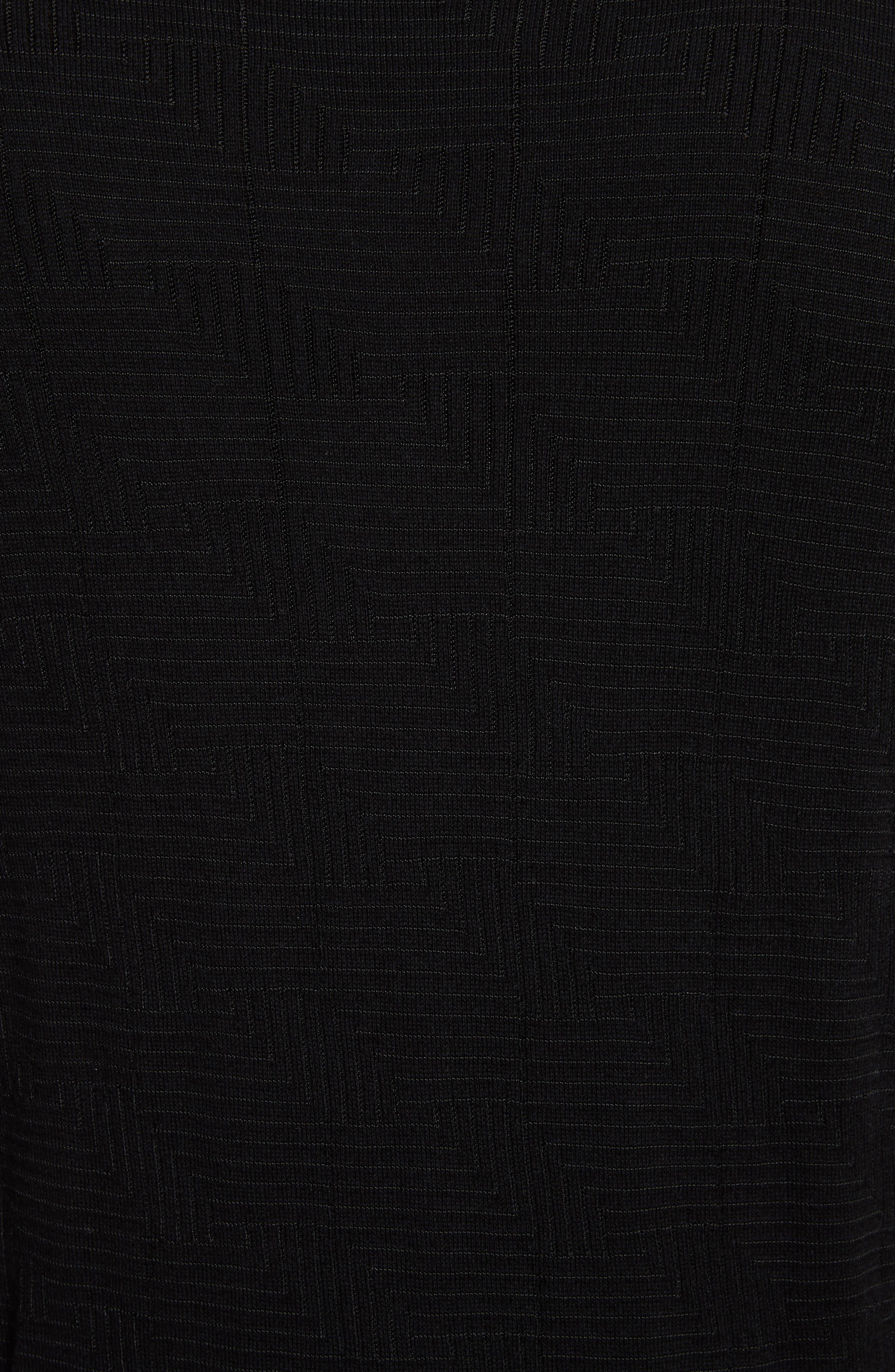 Frame Jacquard Sweater,                             Alternate thumbnail 5, color,                             Black