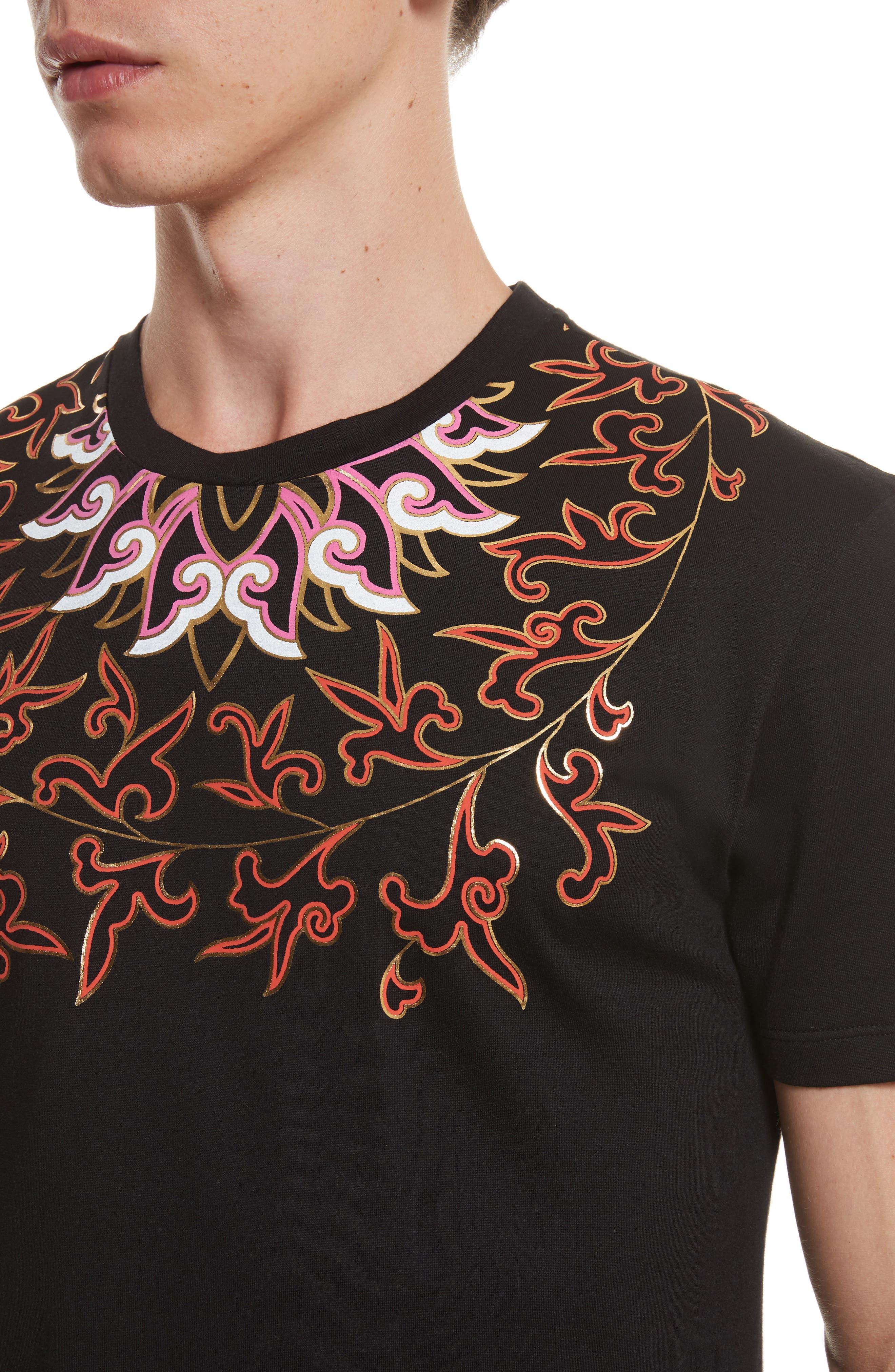 Alternate Image 4  - Versace Collection Baroque Foil Print T-Shirt