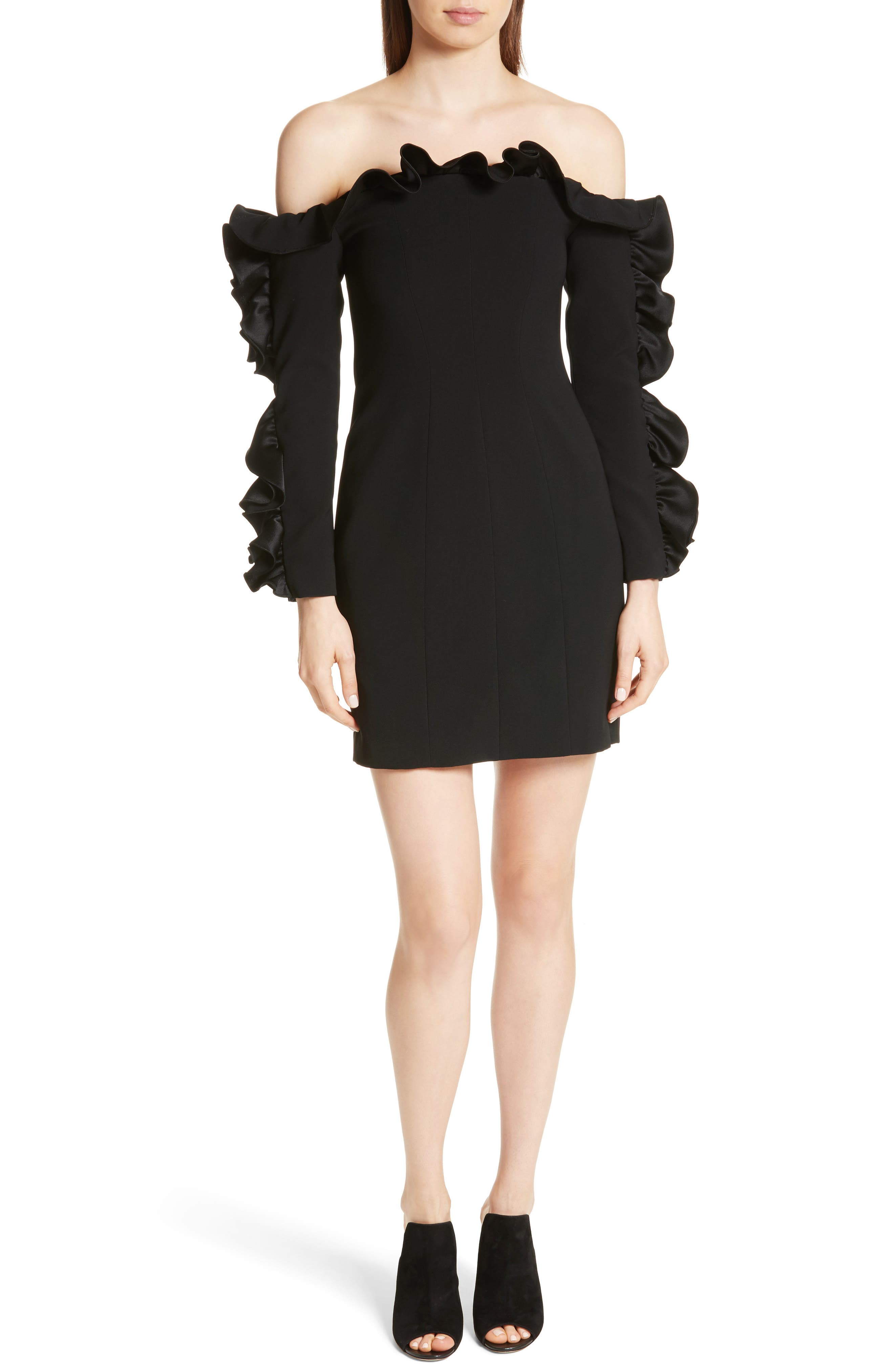 Main Image - Cinq à Sept Rosemarie Ruffle Off the Shoulder Dress