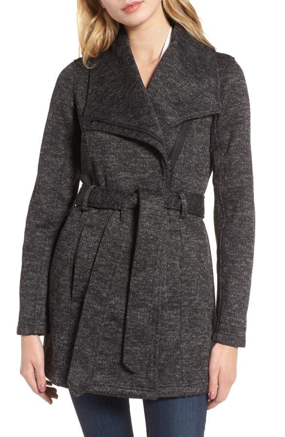 Steve Madden Fleece Wrap Coat | Nordstrom