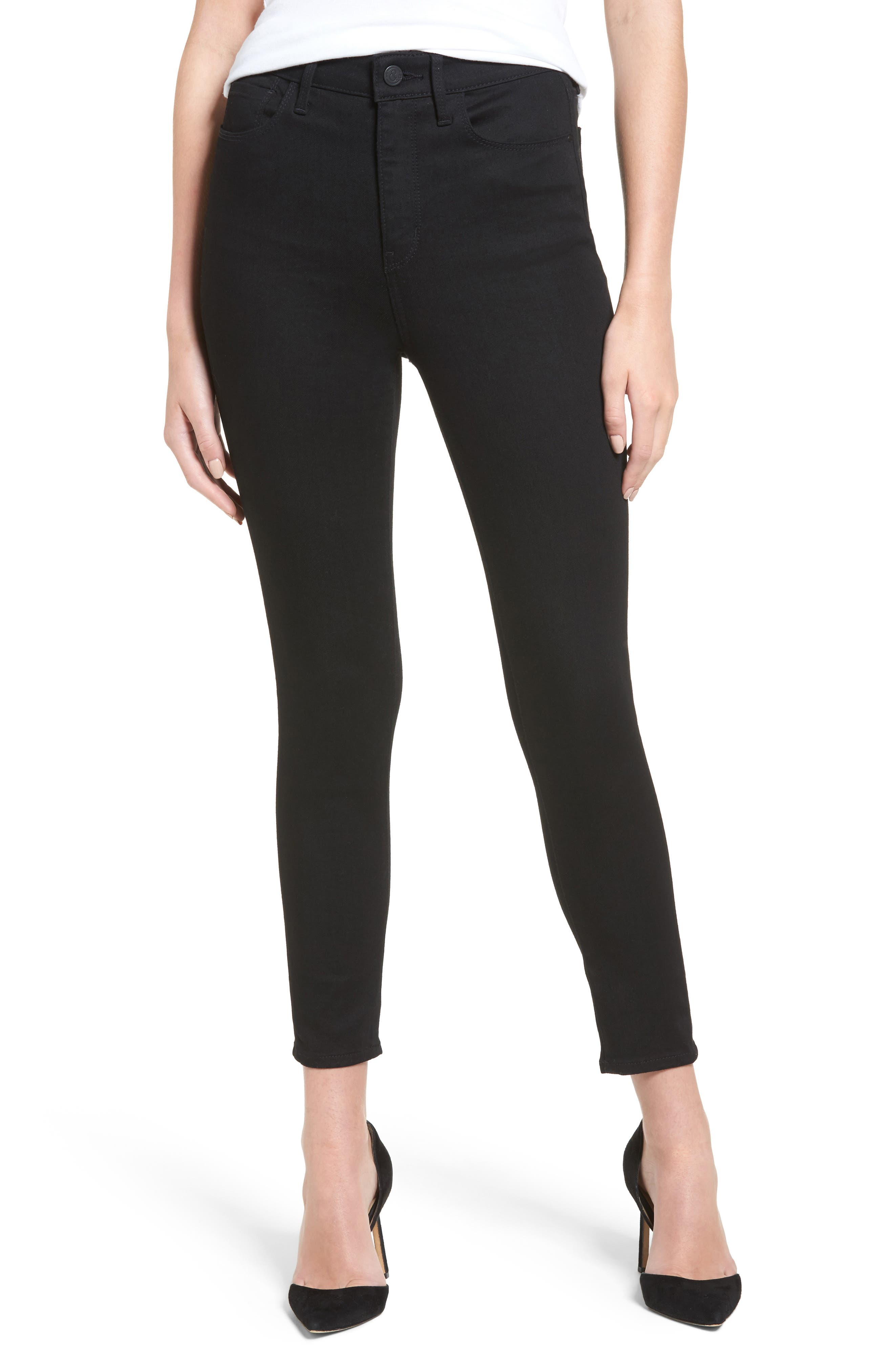 Charity High Waist Crop Skinny Jeans,                             Main thumbnail 1, color,                             Midnight Rinse