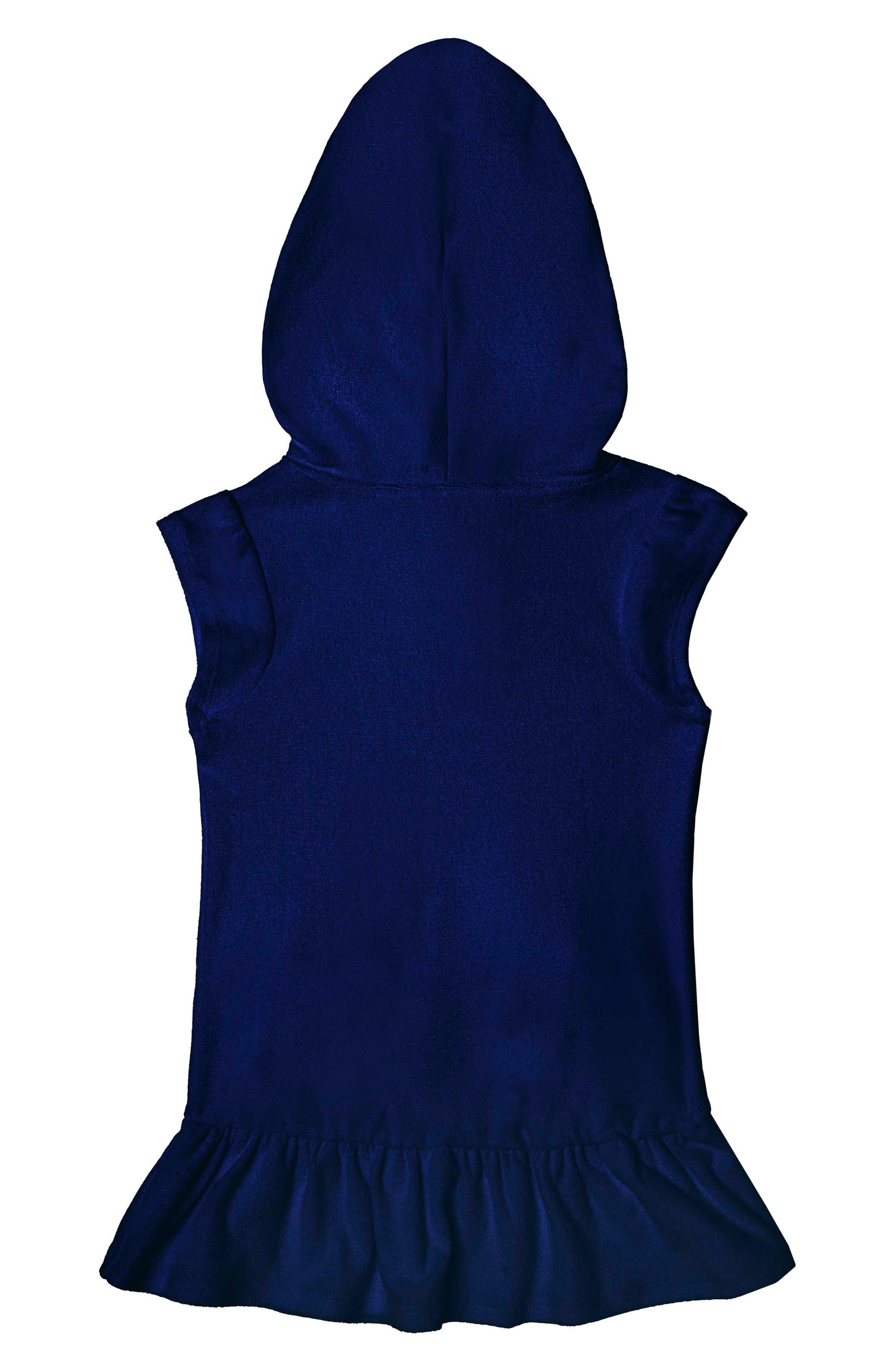 Alternate Image 2  - Hula Star Cotton Cloud Hooded Cover-Up Dress (Toddler Girls & Little Girls)