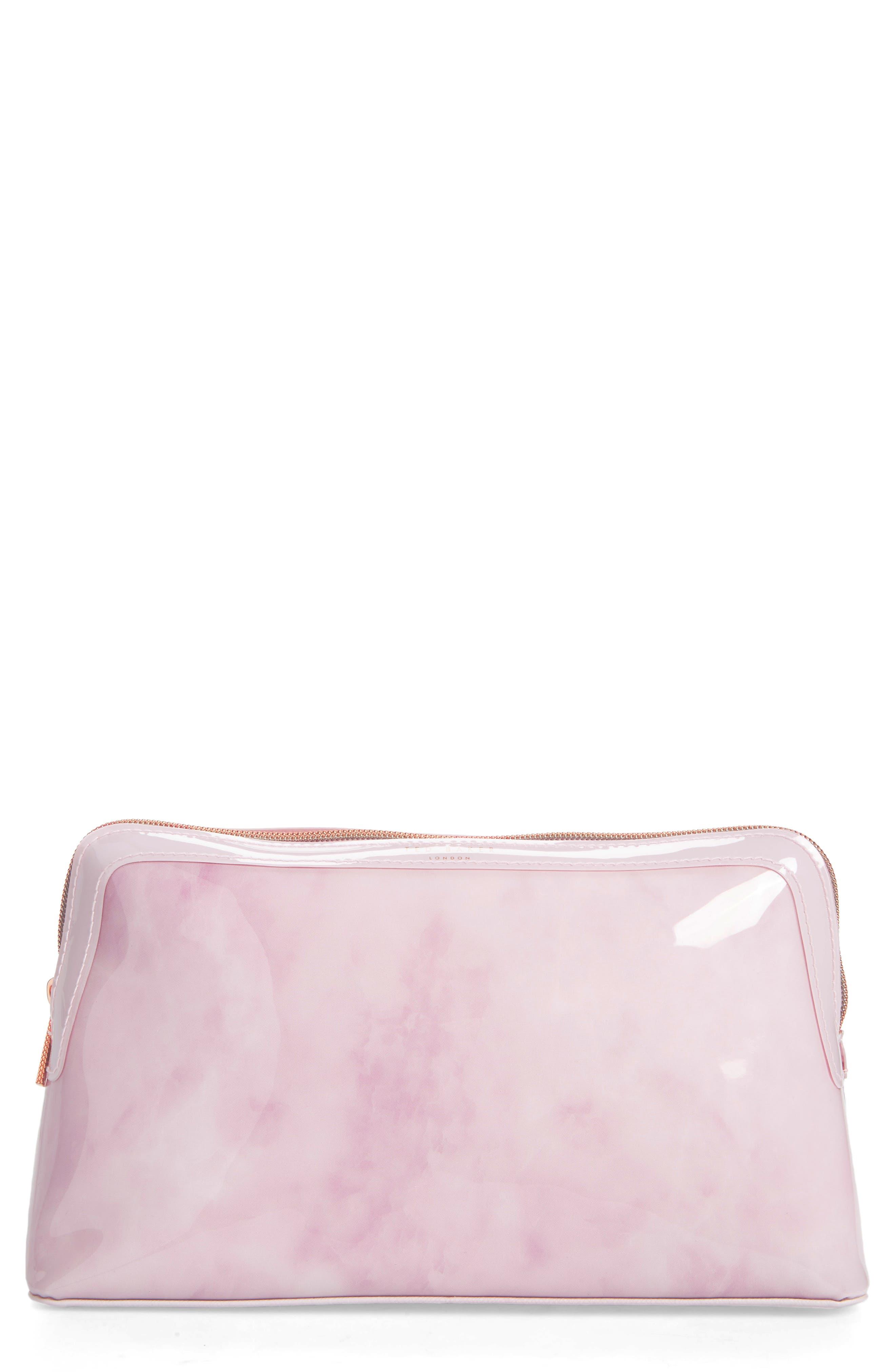 Tristyn Rose Quartz Wash Bag,                         Main,                         color, Nude Pink
