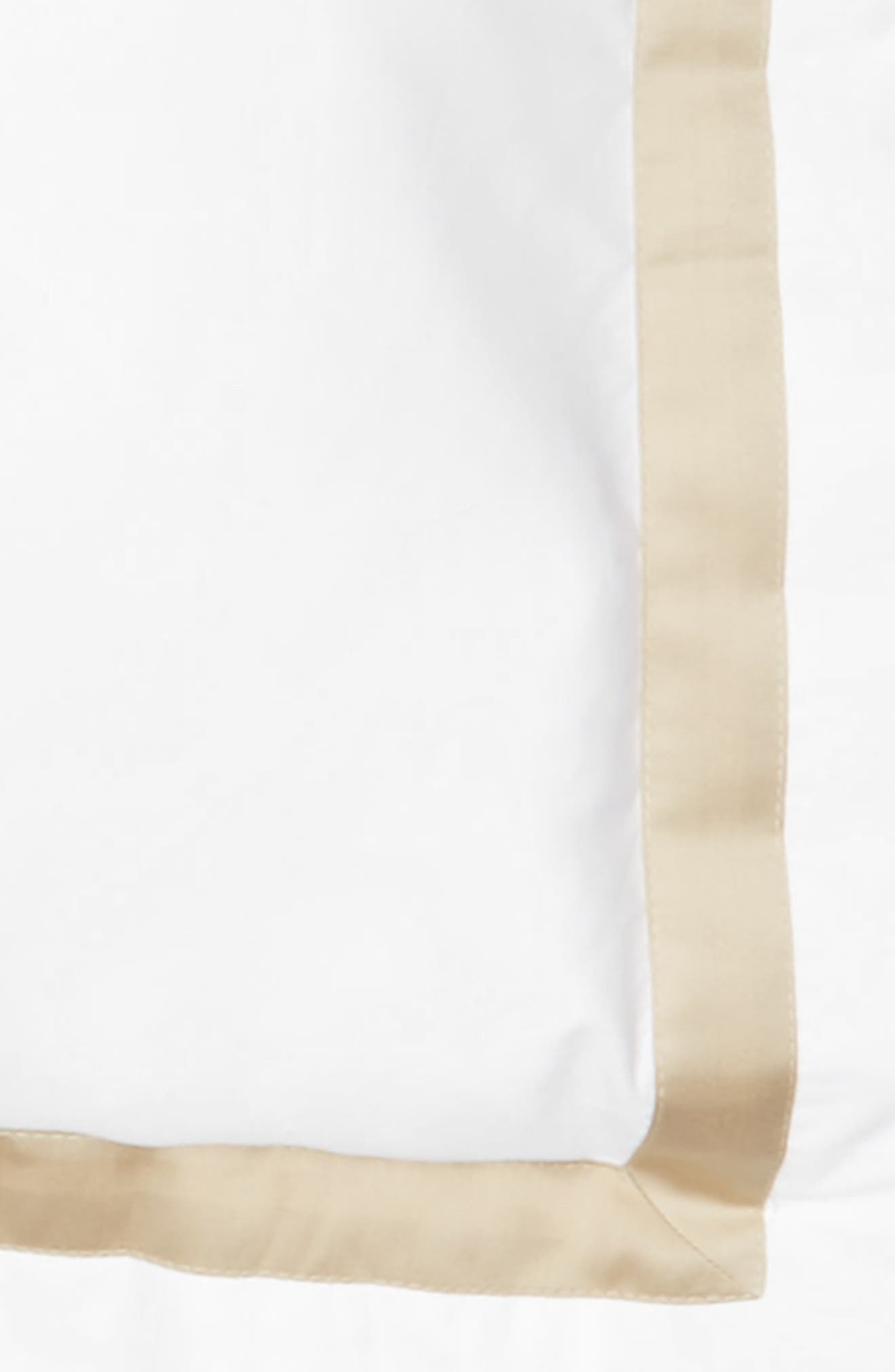 Lowell 600 Thread Count Sham,                             Alternate thumbnail 3, color,                             Champagne