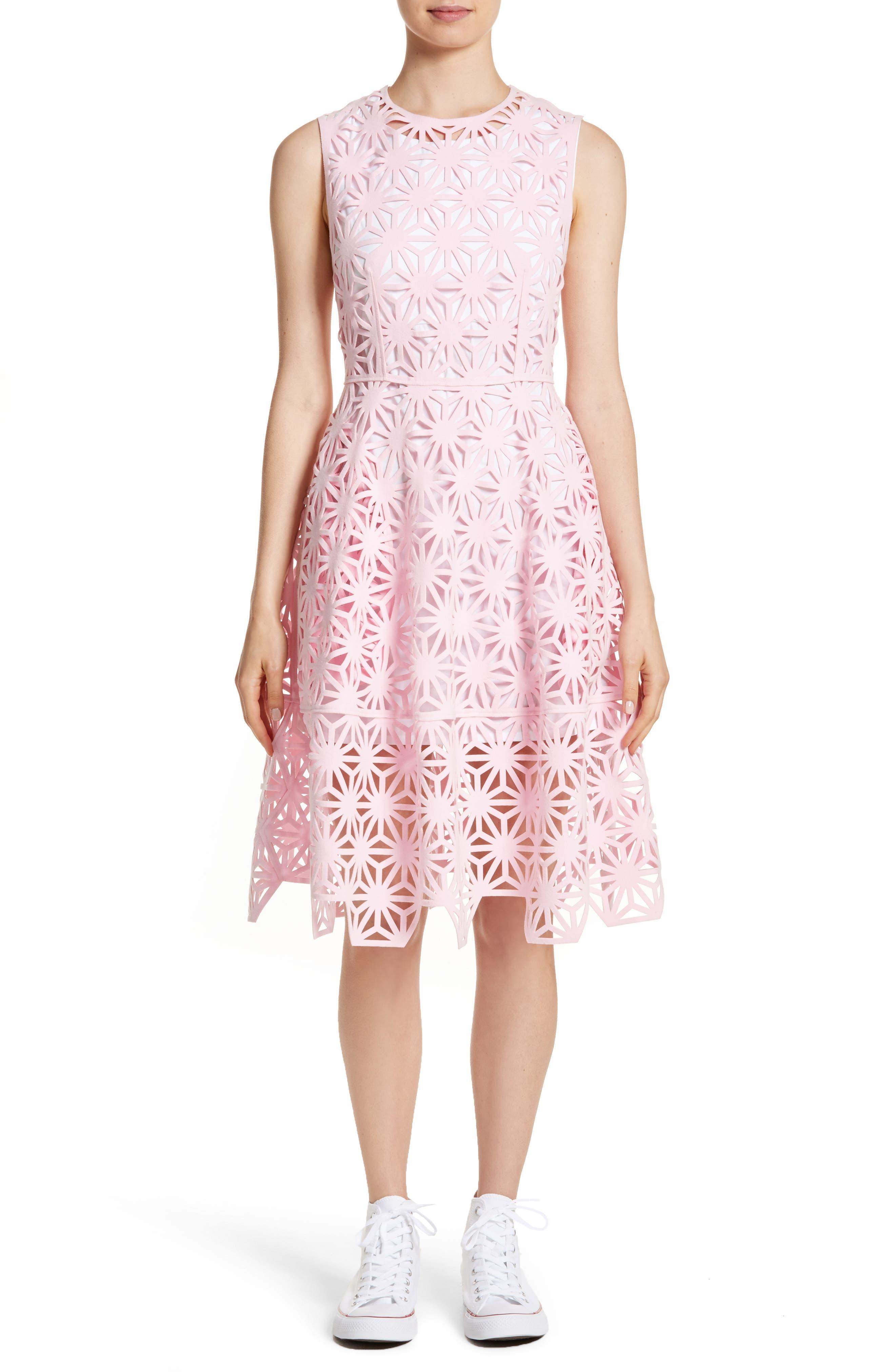 Main Image - PASKAL Geo Laser Cut Fit & Flare Dress