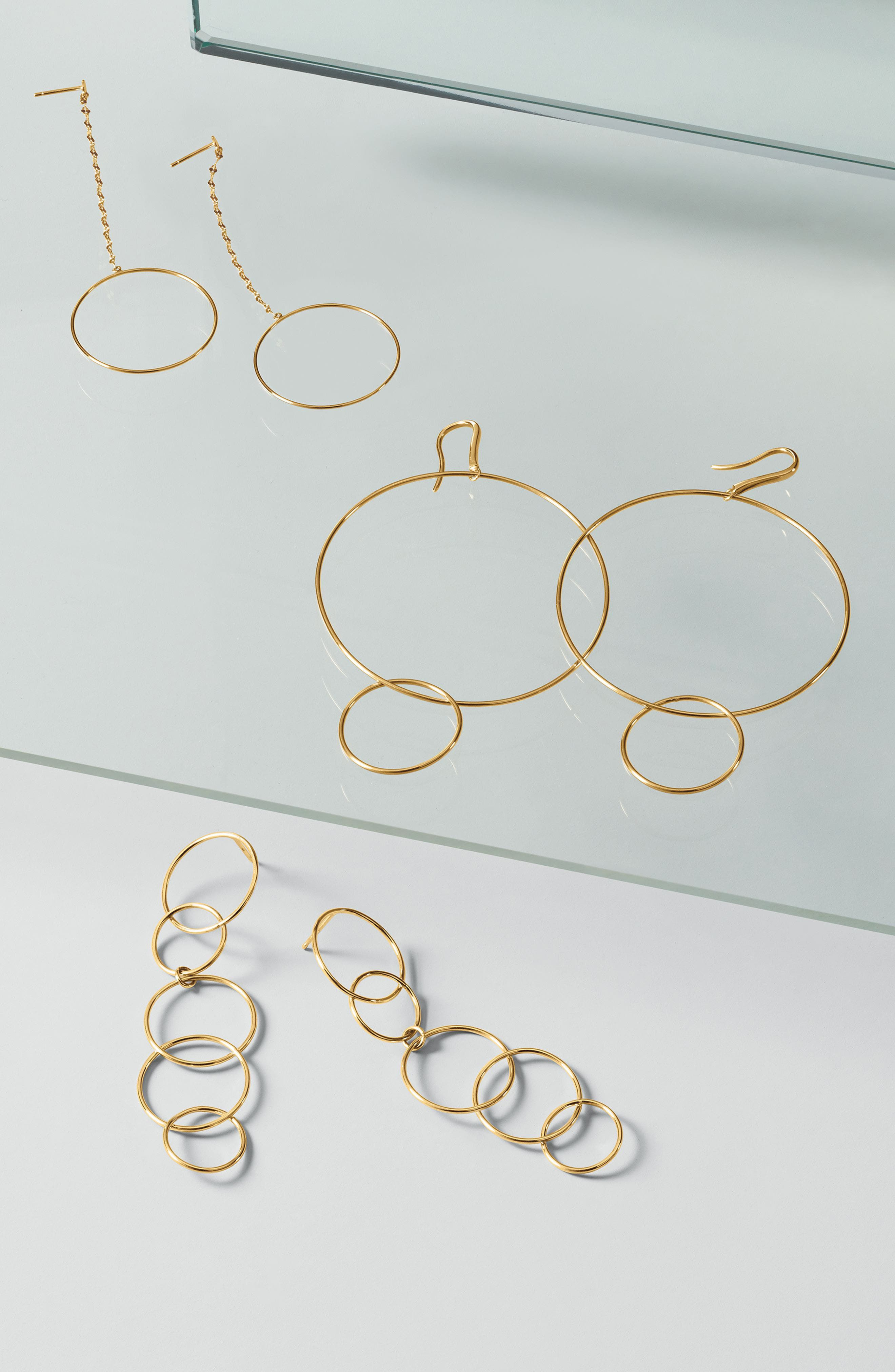 Open Disc Linear Drop Earrings,                             Alternate thumbnail 2, color,