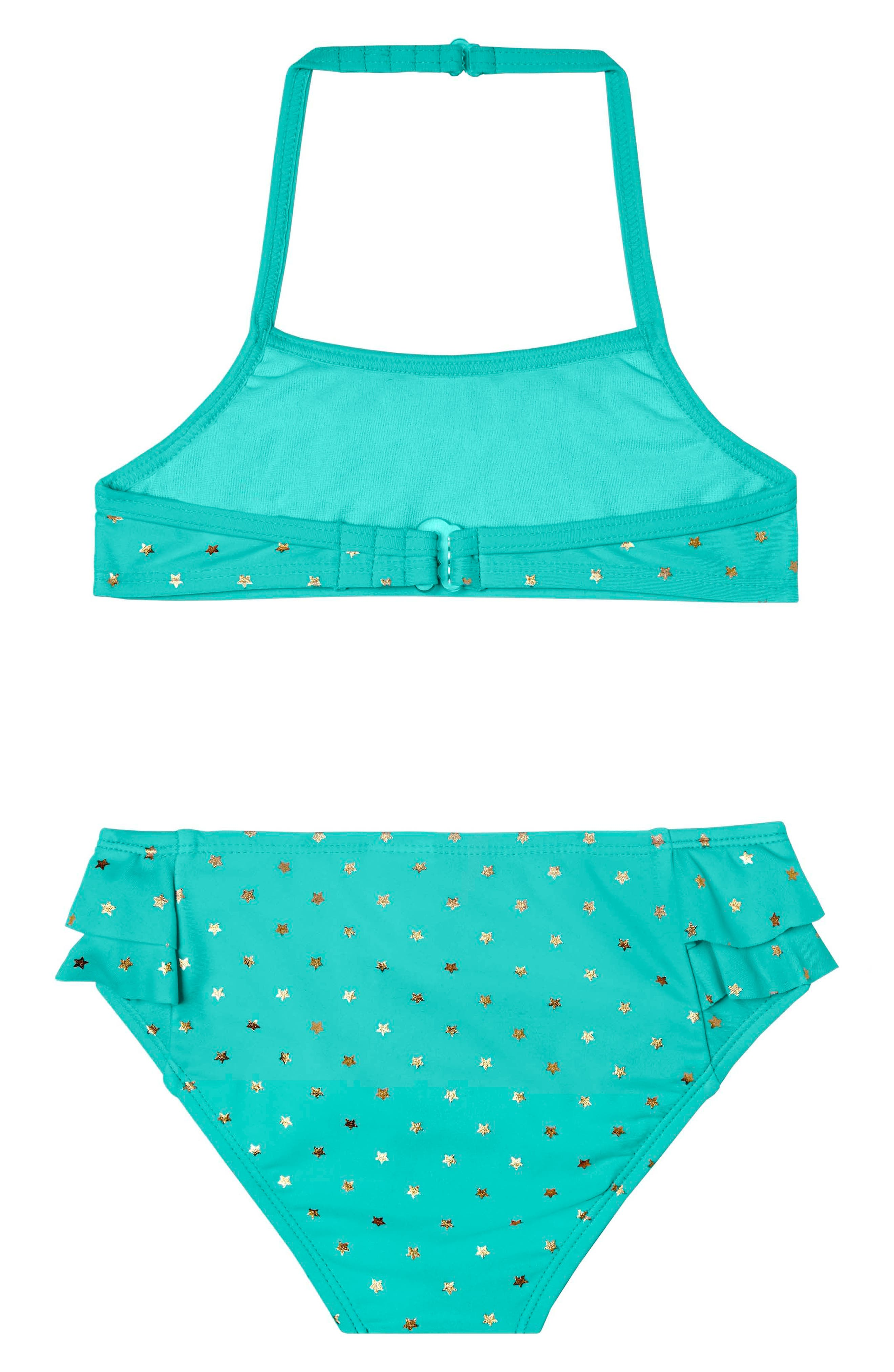 Alternate Image 2  - Hula Star Twinkle Star Two-Piece Swimsuit (Toddler Girls & Little Girls)