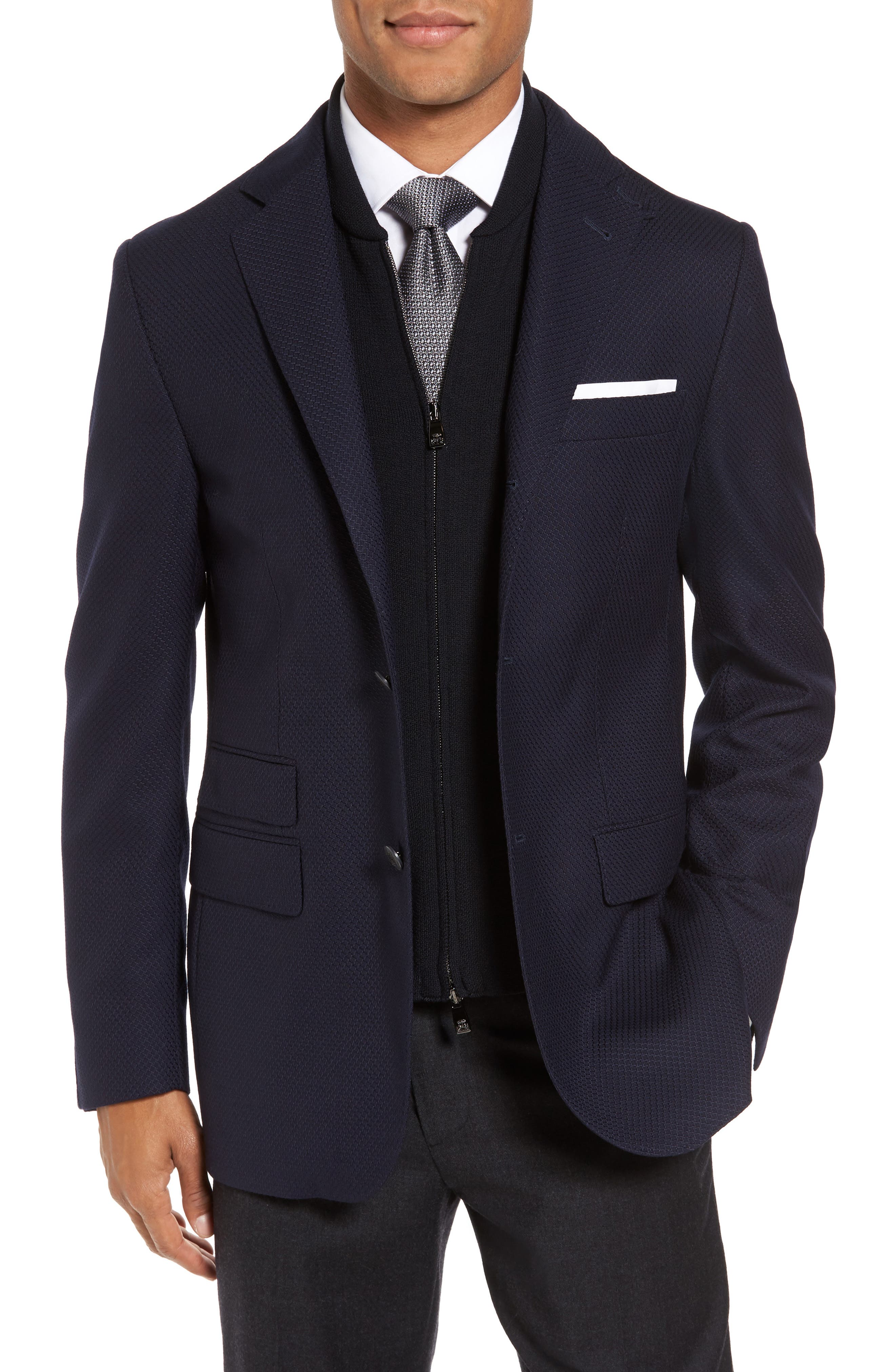 ID Classic Fit Wool Jacket,                             Main thumbnail 1, color,                             Ink