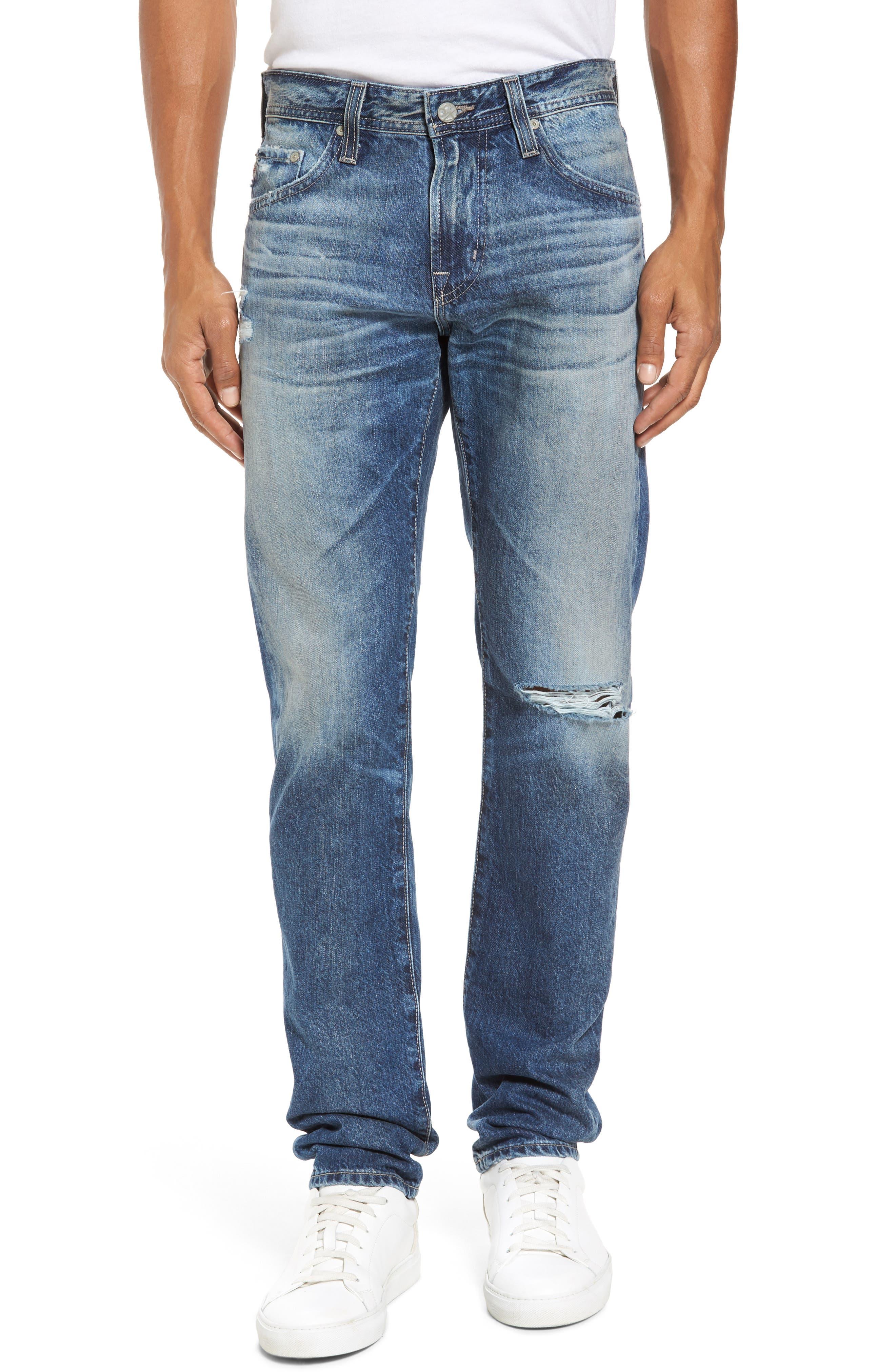 Main Image - AG Tellis Slim Fit Jeans (20 Years Grunge)