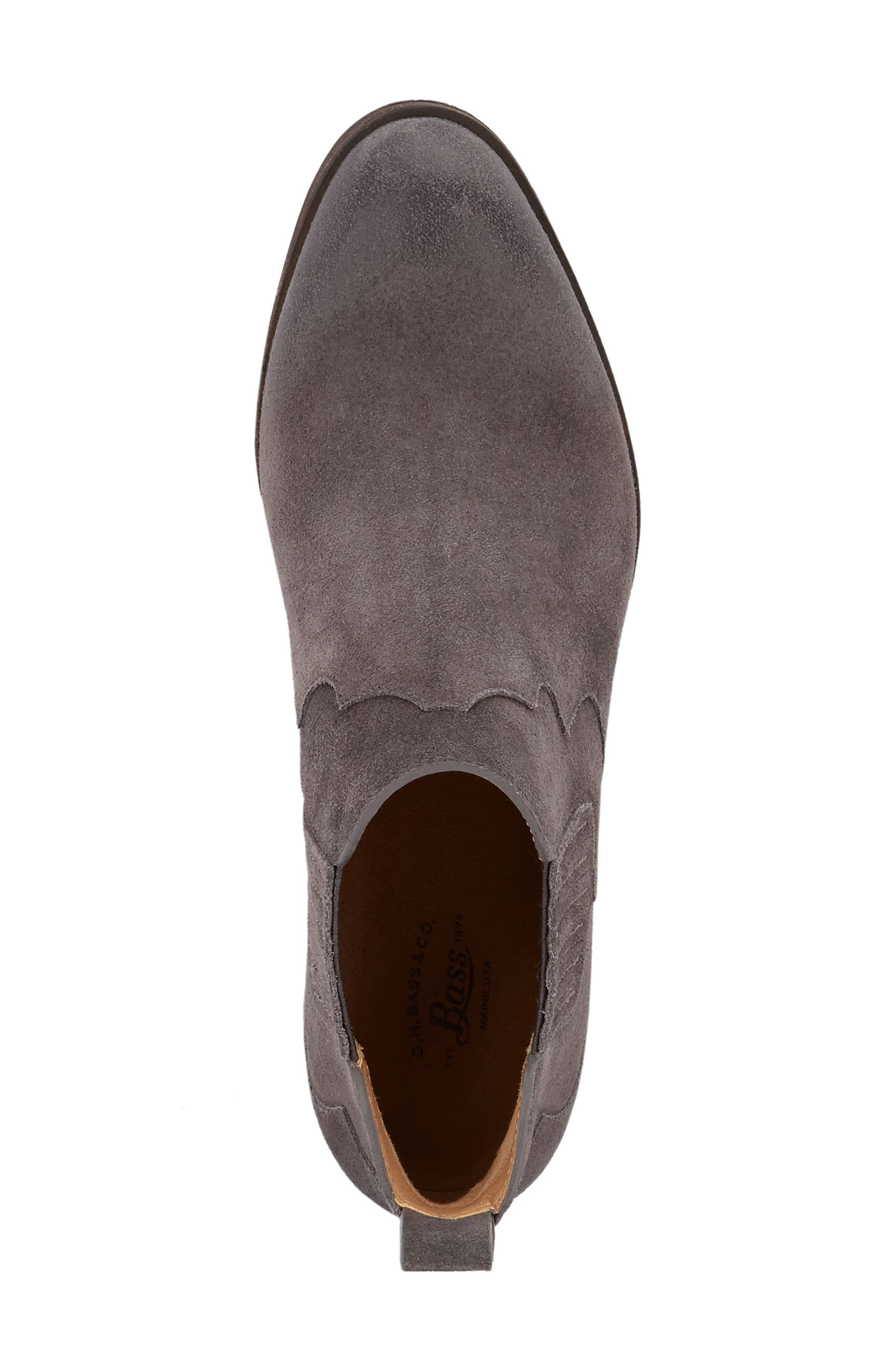 Naomi Bootie,                             Alternate thumbnail 4, color,                             Charcoal Suede