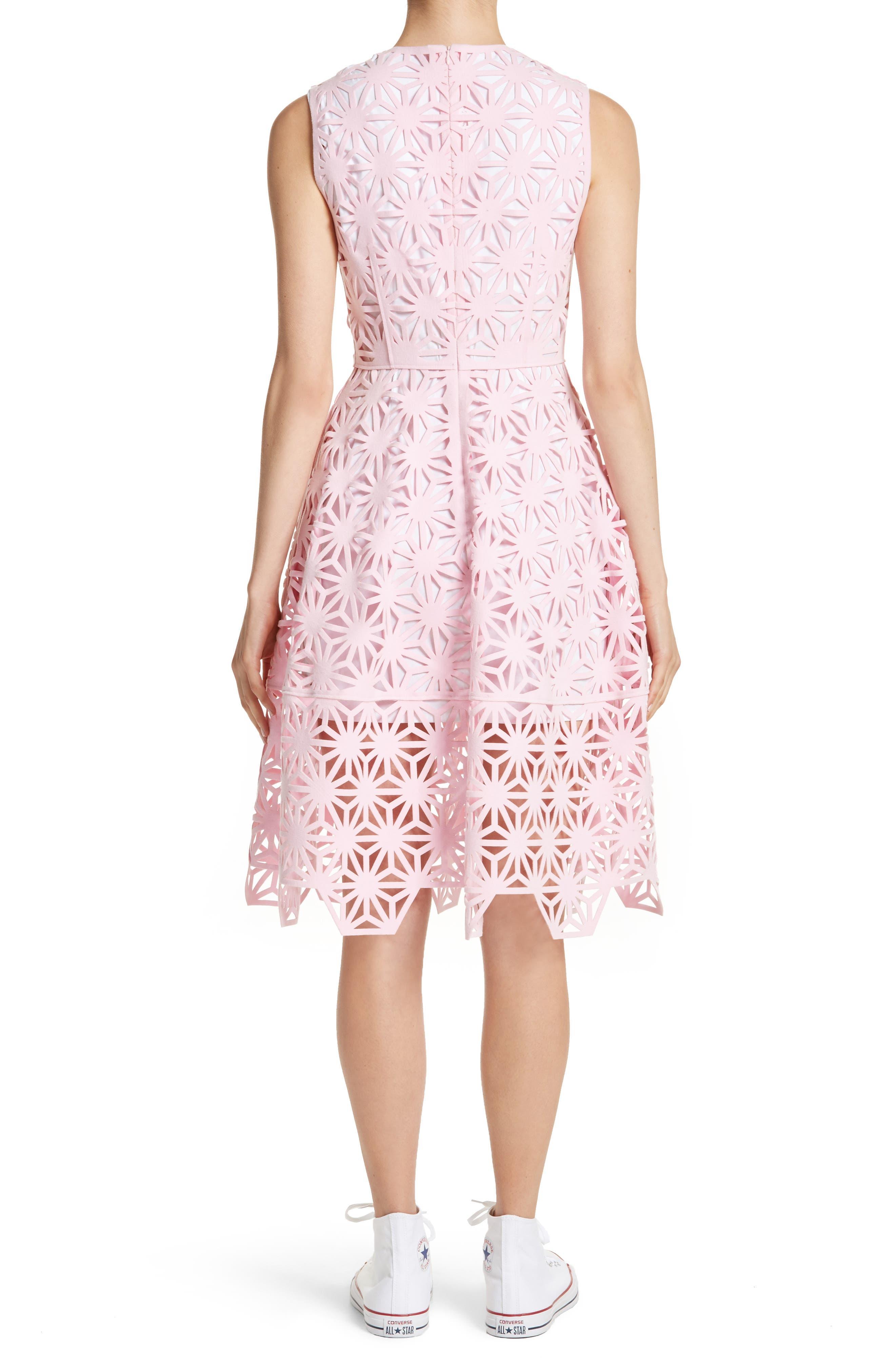 Alternate Image 2  - PASKAL Geo Laser Cut Fit & Flare Dress