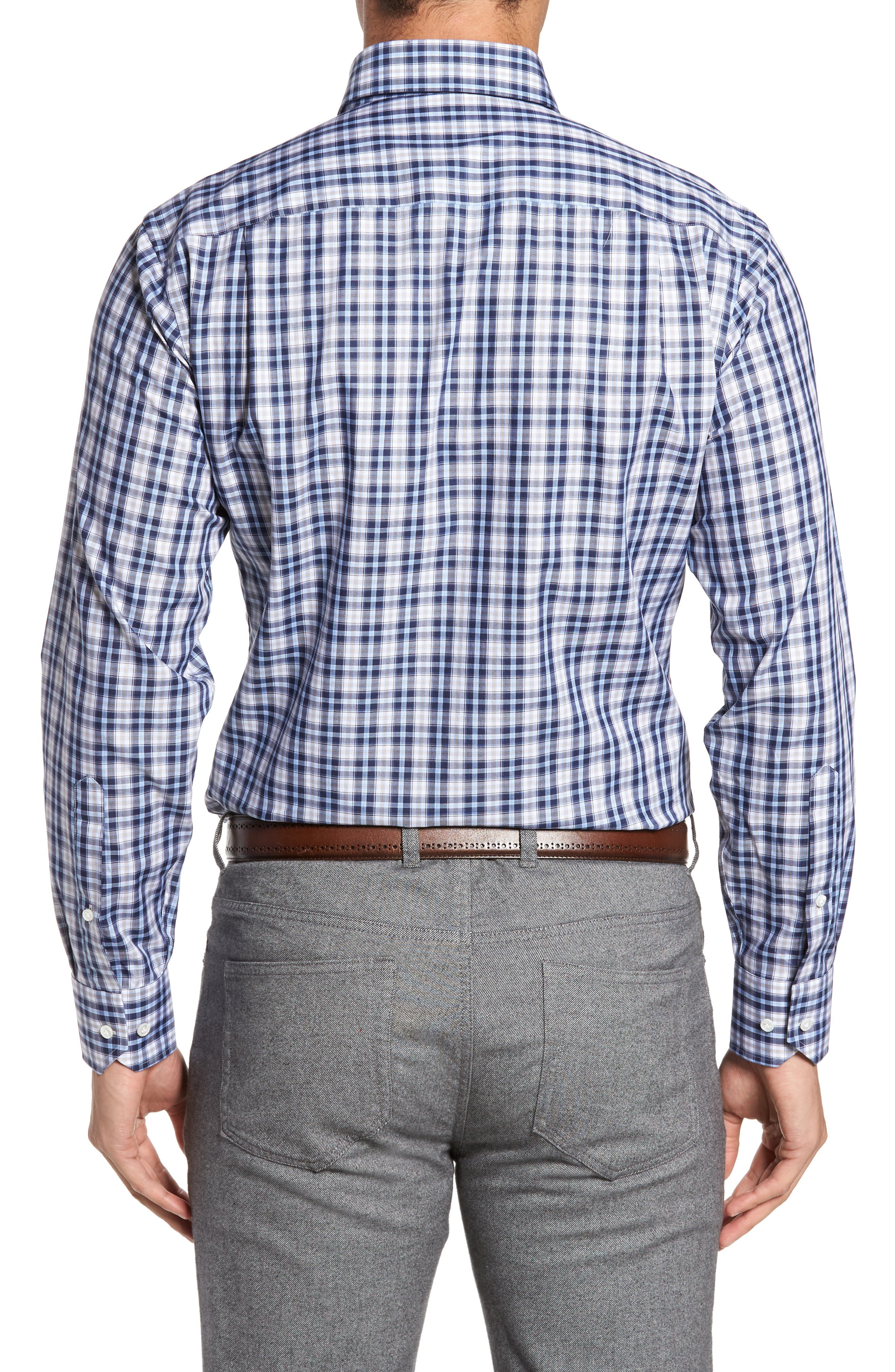 Alternate Image 2  - Peter Millar Peyto Regular Fit Plaid Sport Shirt