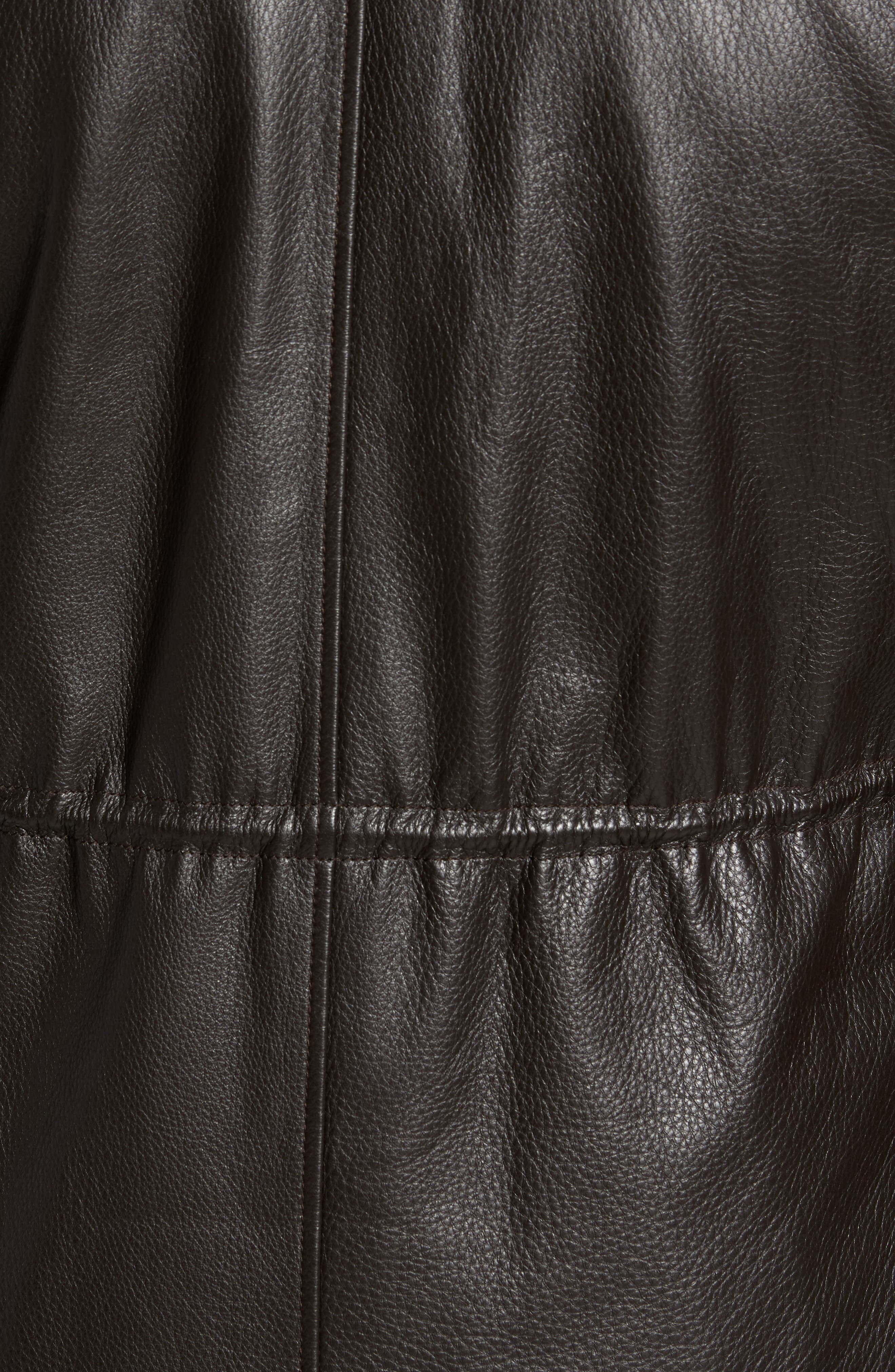 Woodland Discovery Deerskin Leather Jacket,                             Alternate thumbnail 5, color,                             Espresso