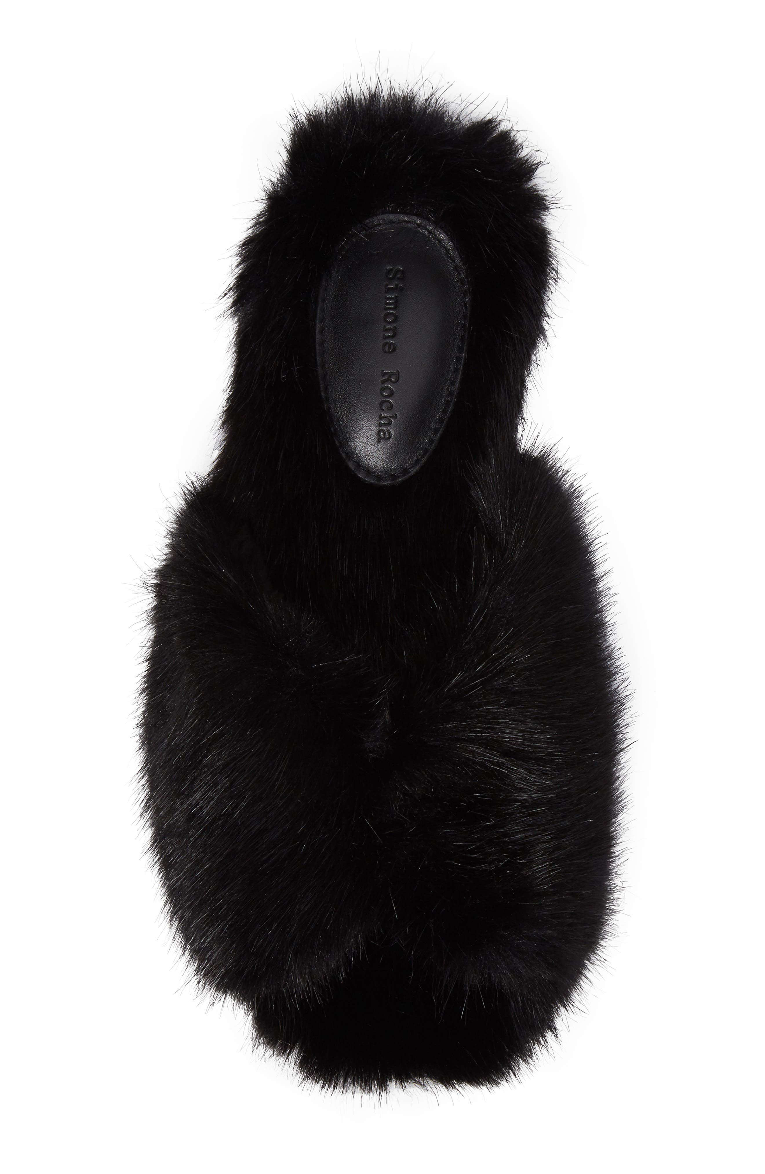 Alternate Image 4  - Simone Rocha Faux Fur Mule (Women)