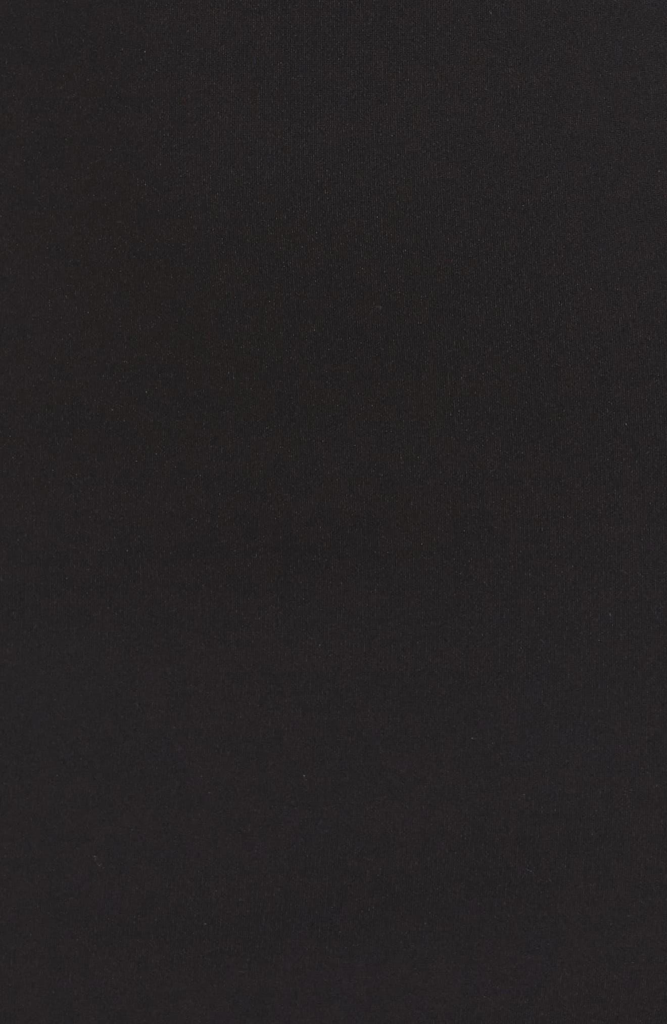 Milly Bell Sleeve Midi Dress,                             Alternate thumbnail 6, color,                             Black